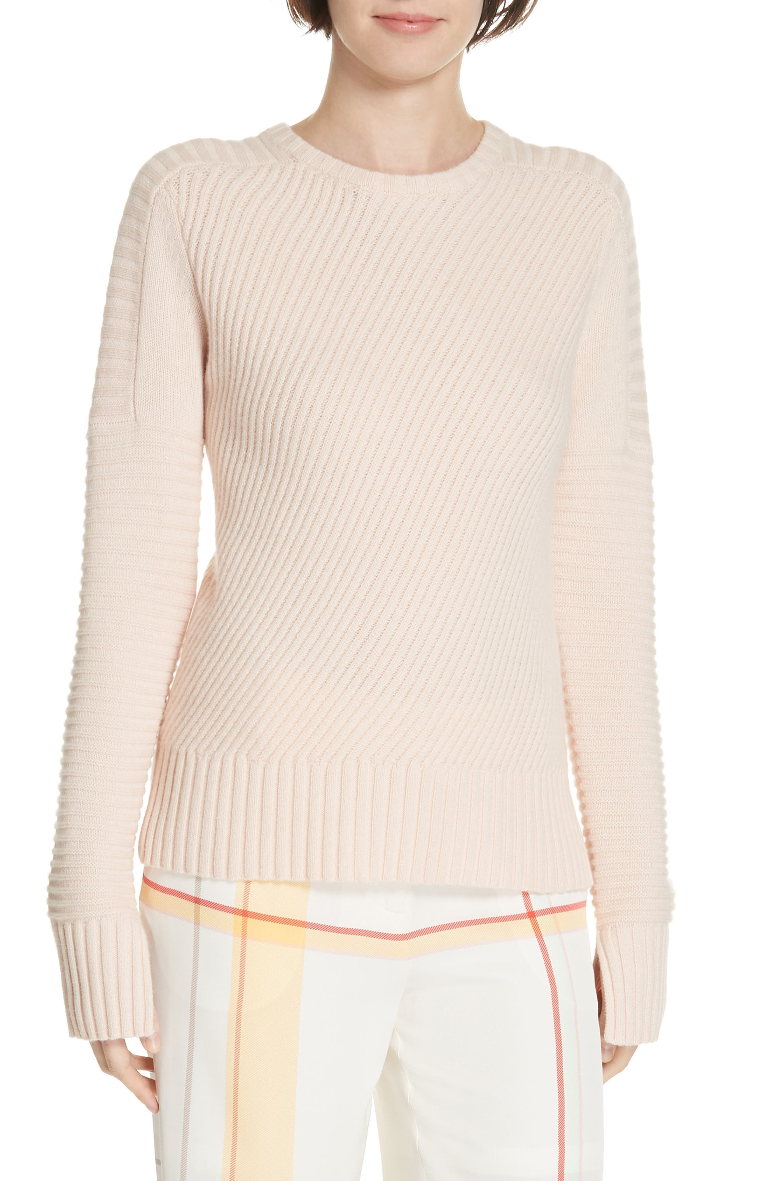 Abril Wool & Cashmere Sweater,                             Main thumbnail 1, color,                             ROSETTE