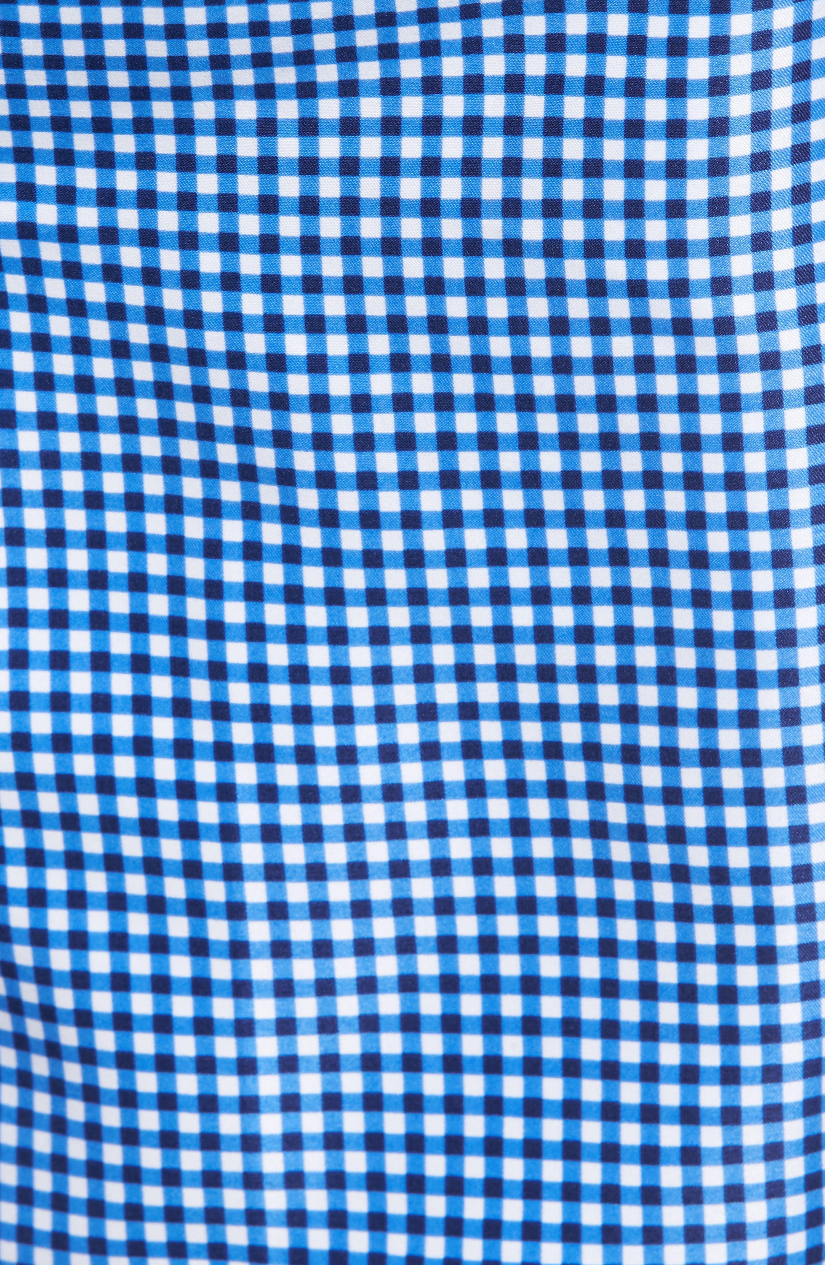 Gingham Style Swim Trunks,                             Alternate thumbnail 5, color,                             ATLANTIC BLUE
