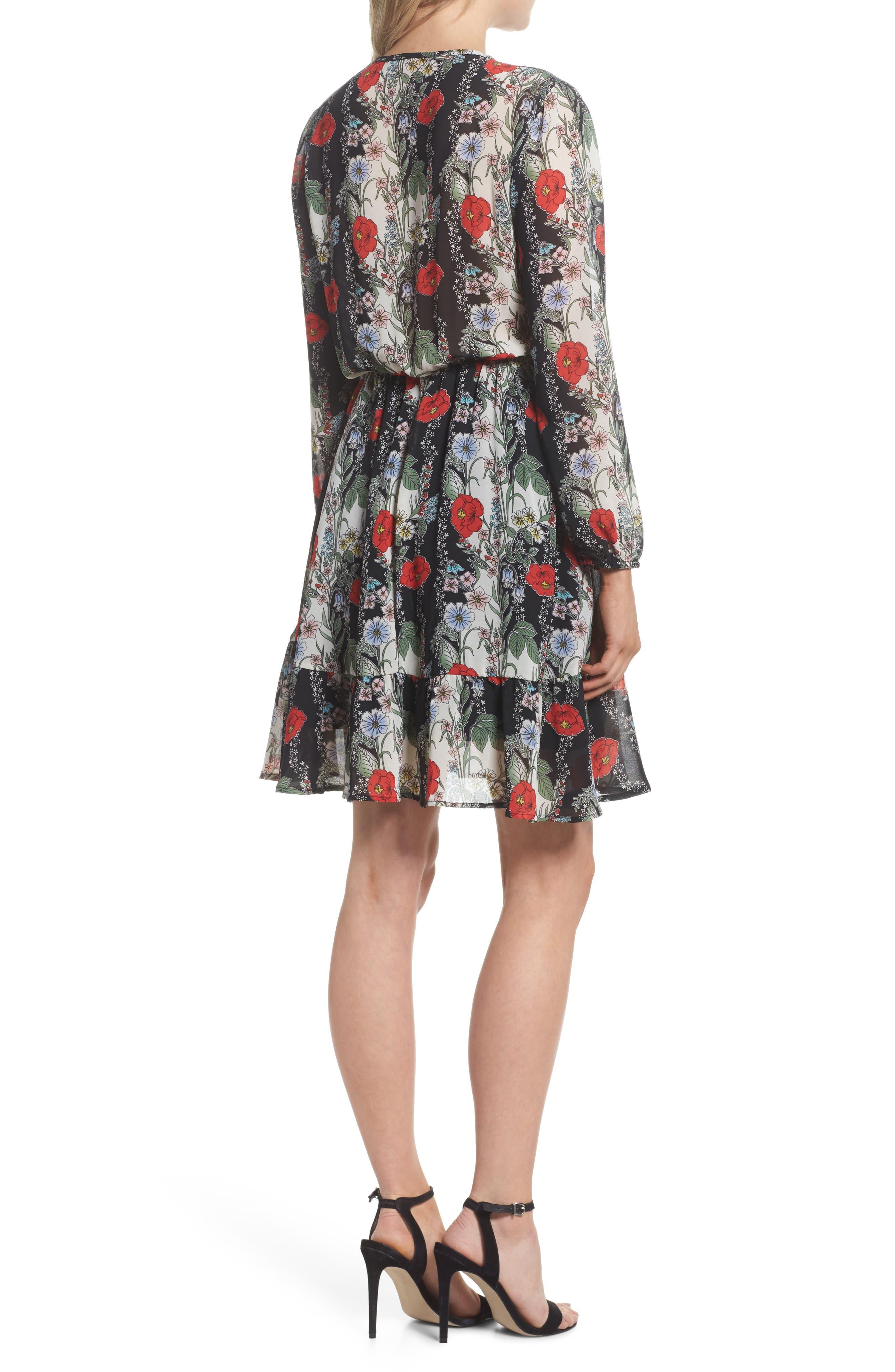 Lidia Tie Front Dress,                             Alternate thumbnail 2, color,                             LIDIA