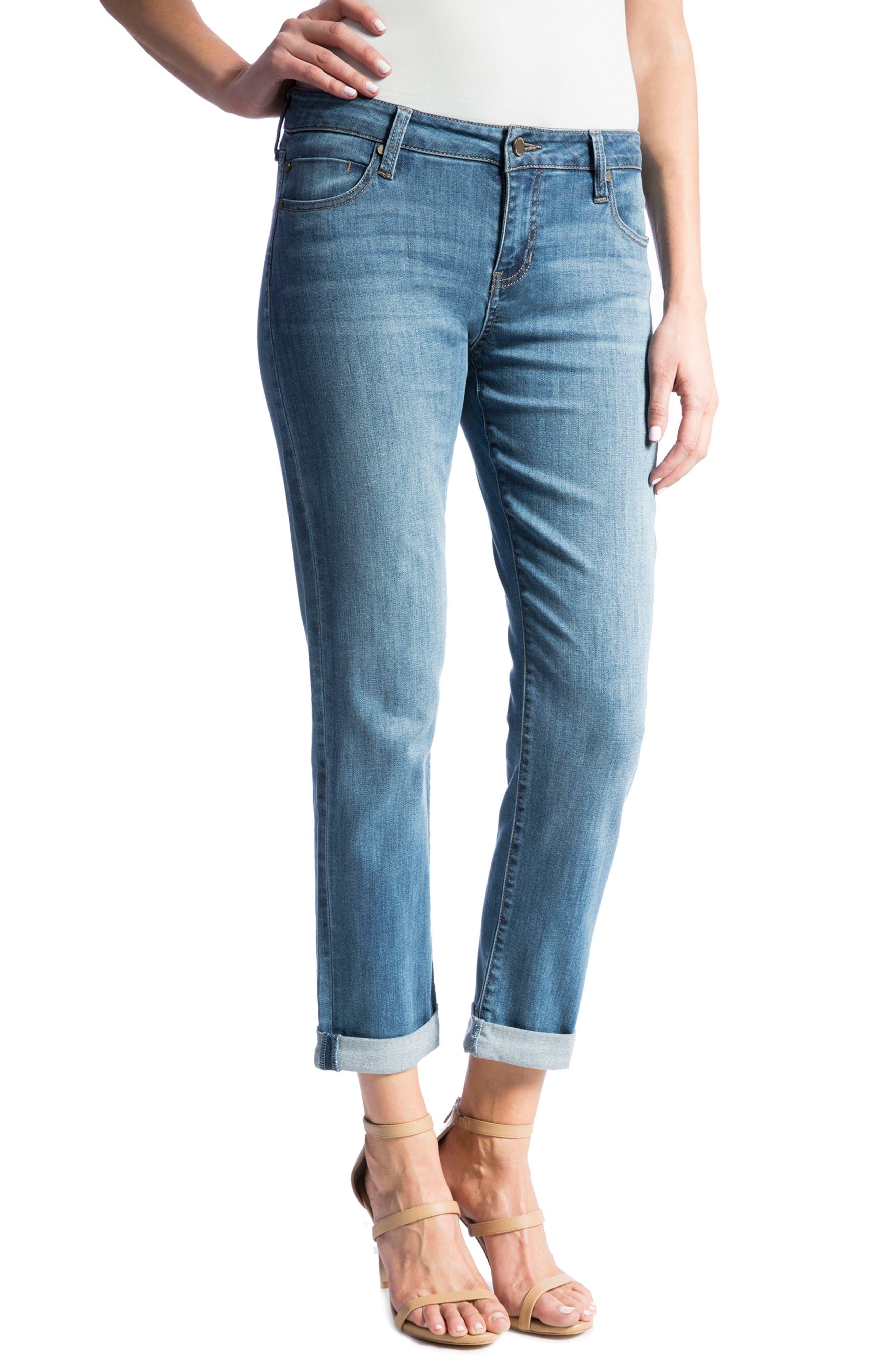 Peyton Slim Boyfriend Jeans,                             Alternate thumbnail 4, color,