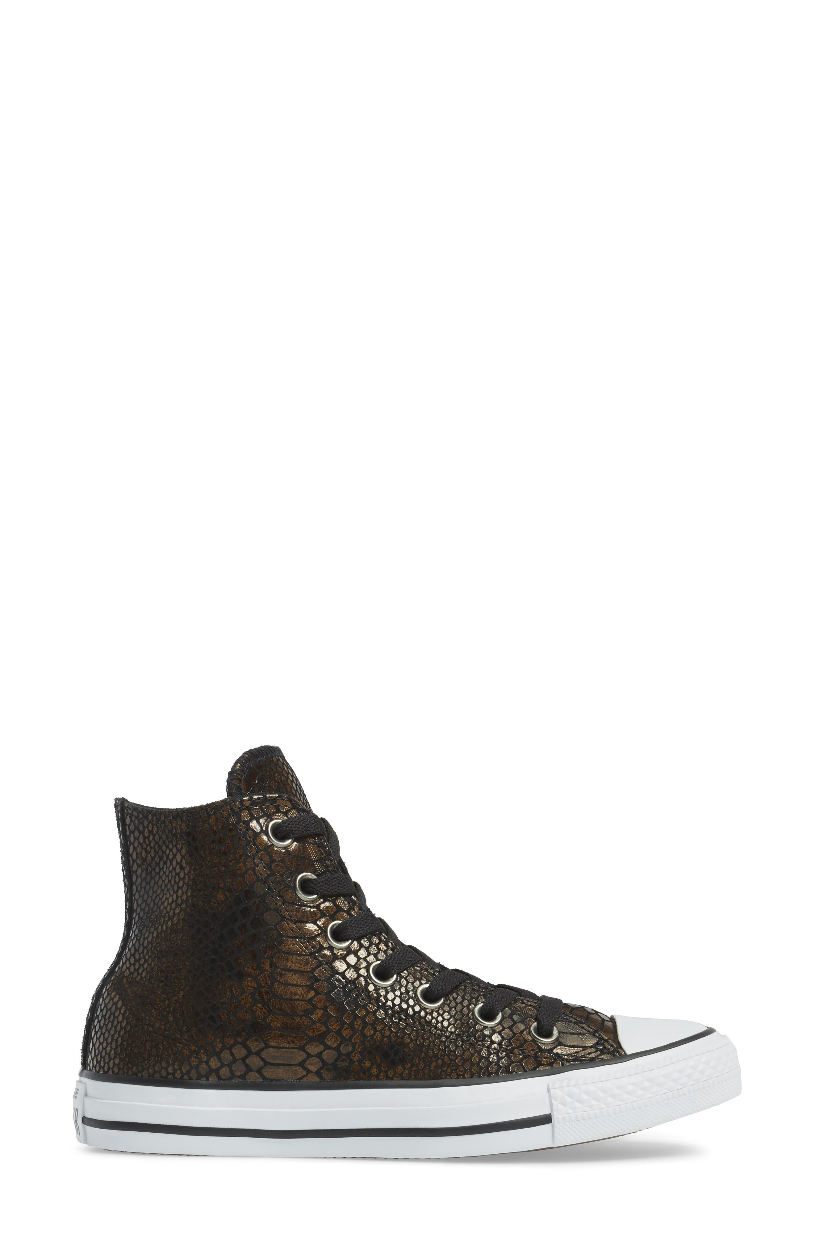 Chuck Taylor<sup>®</sup> All Star<sup>®</sup> Snake Embossed High Top Sneaker,                             Alternate thumbnail 3, color,                             200