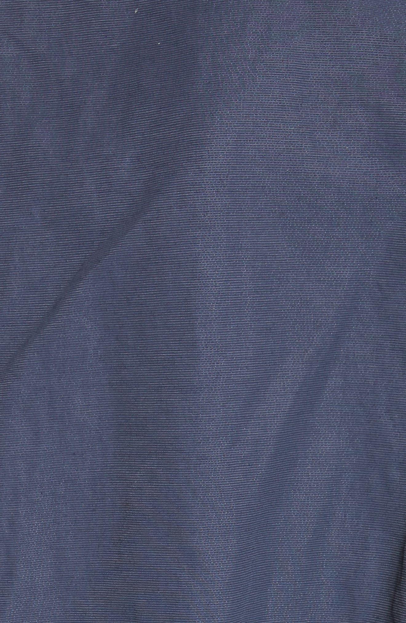 Suede & Cotton Blend Kimono Jacket,                             Alternate thumbnail 6, color,                             400