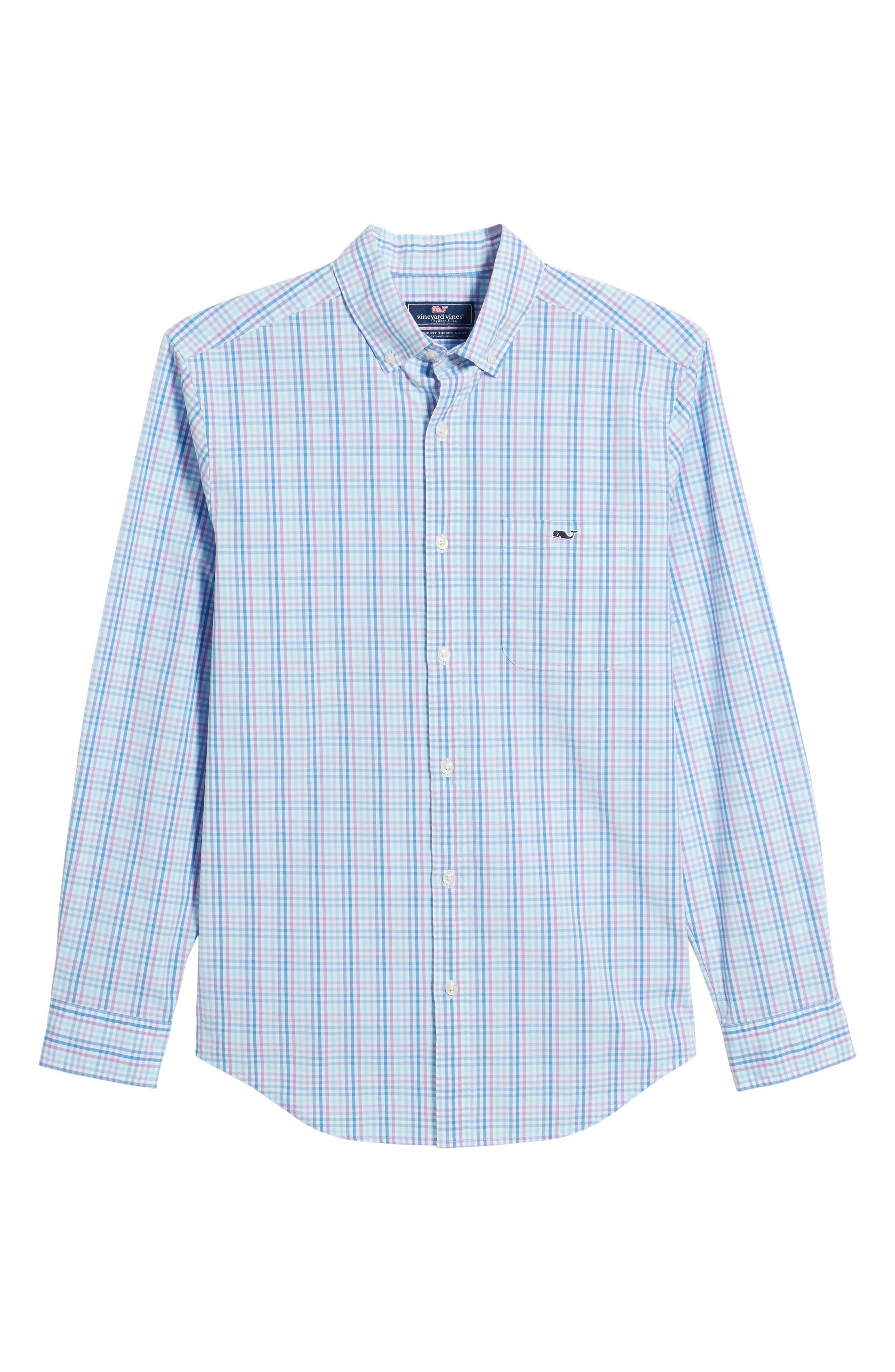 Friendly Island Classic Fit Stretch Check Sport Shirt,                             Alternate thumbnail 6, color,                             526