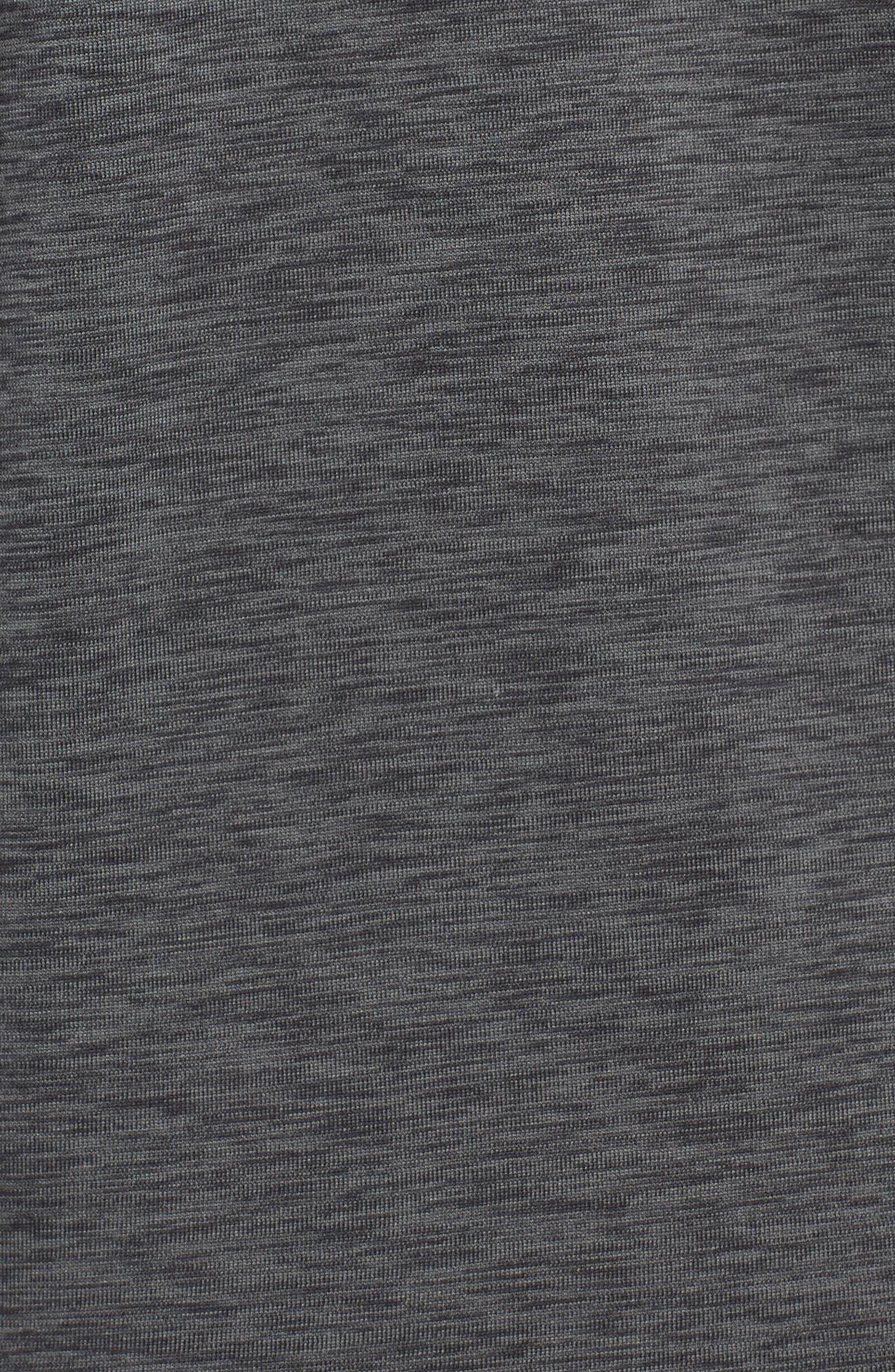 Hyper Dry Regular Fit Training Hoodie,                             Alternate thumbnail 5, color,                             ANTHRACITE/BLACK/BLACK