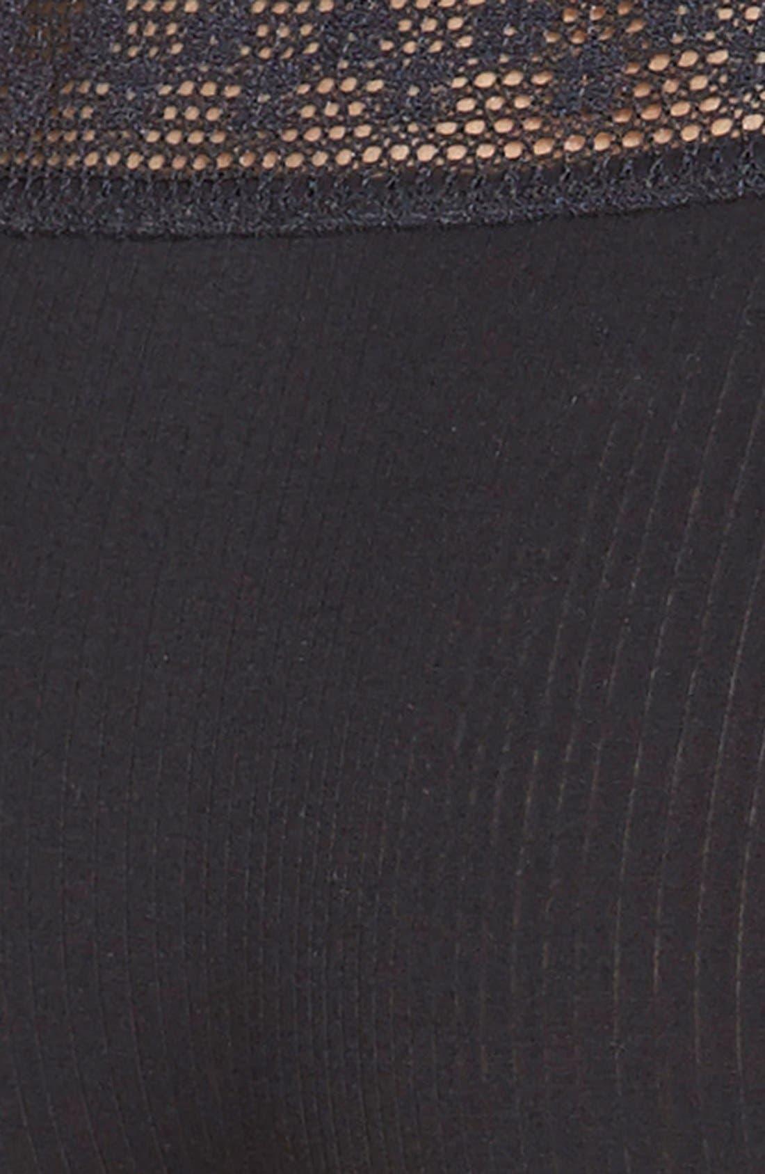 'Aubrie' Boy Leg Briefs,                             Alternate thumbnail 3, color,                             BLACK