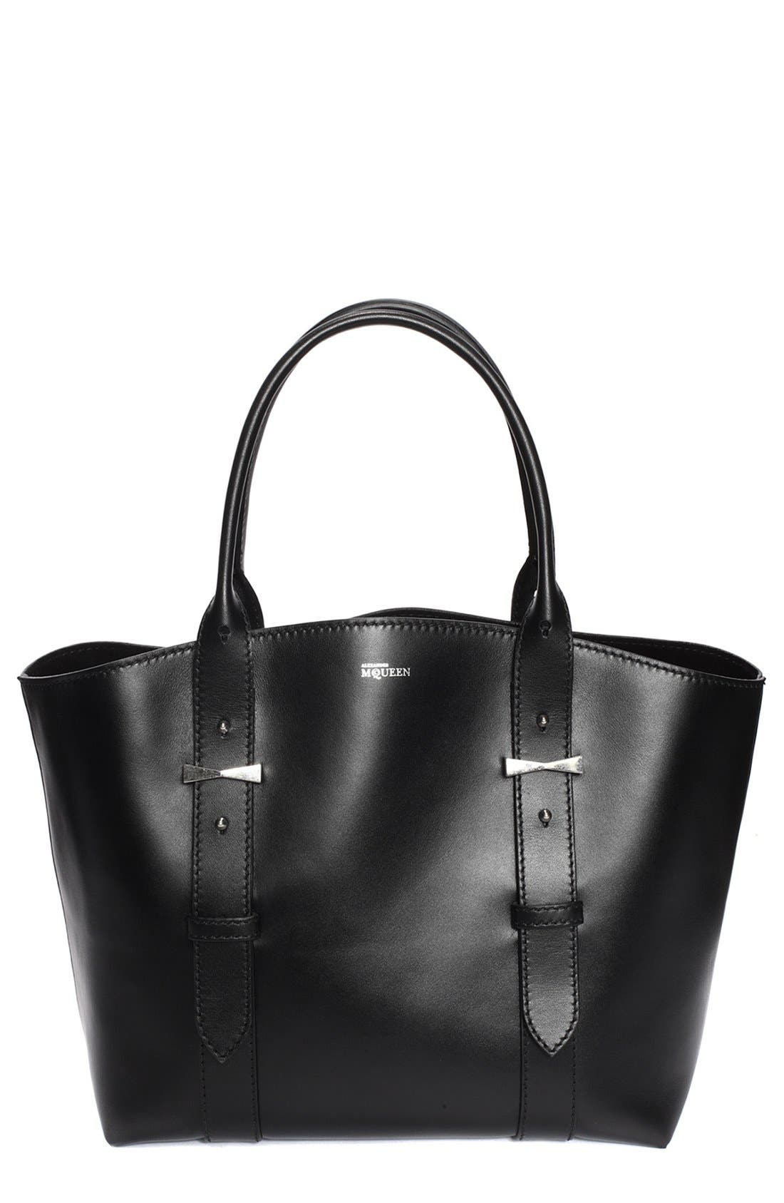 'Small Legend' Leather Shopper, Main, color, 001