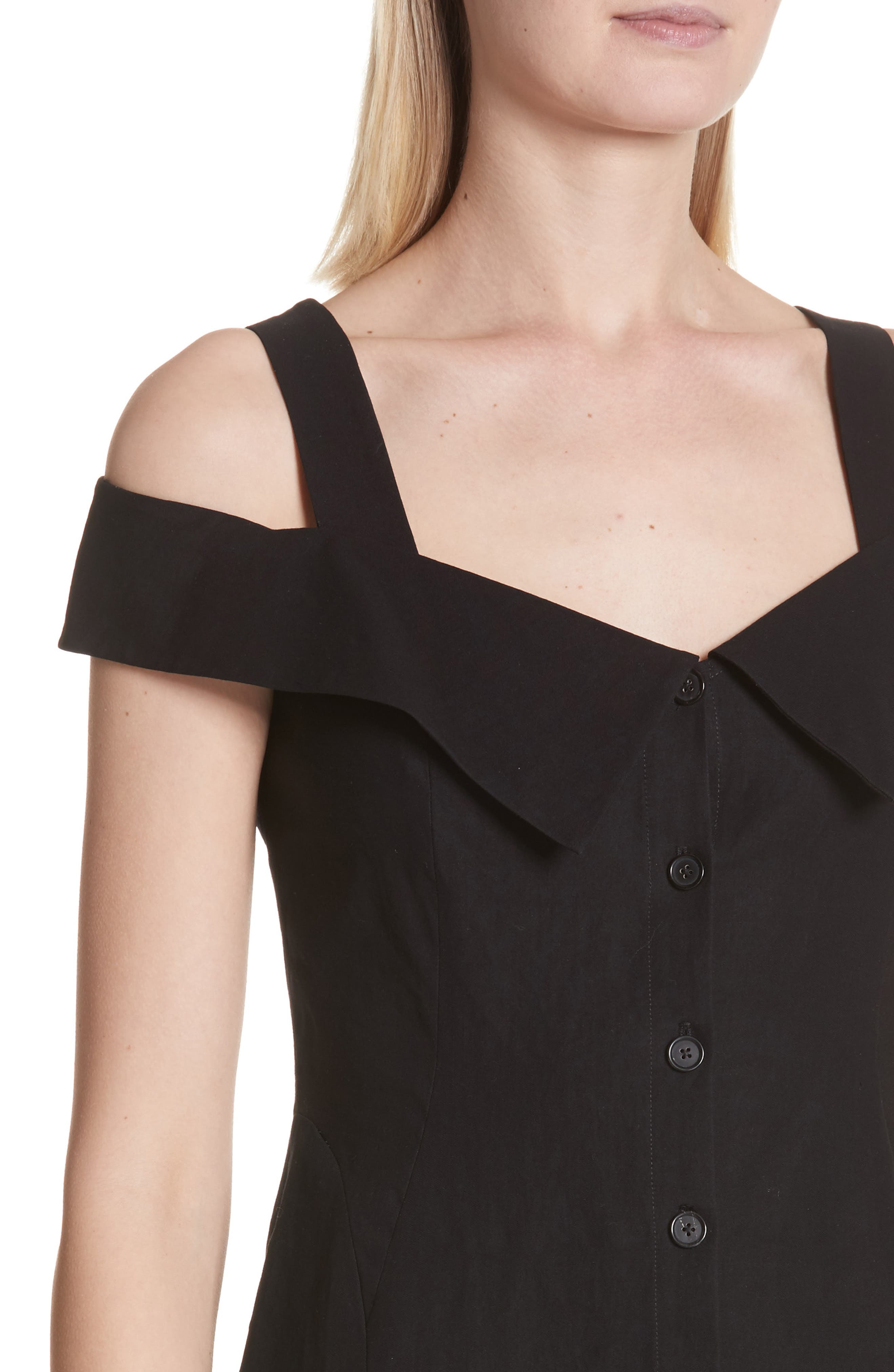 Hudson Cold Shoulder Dress,                             Alternate thumbnail 4, color,                             001