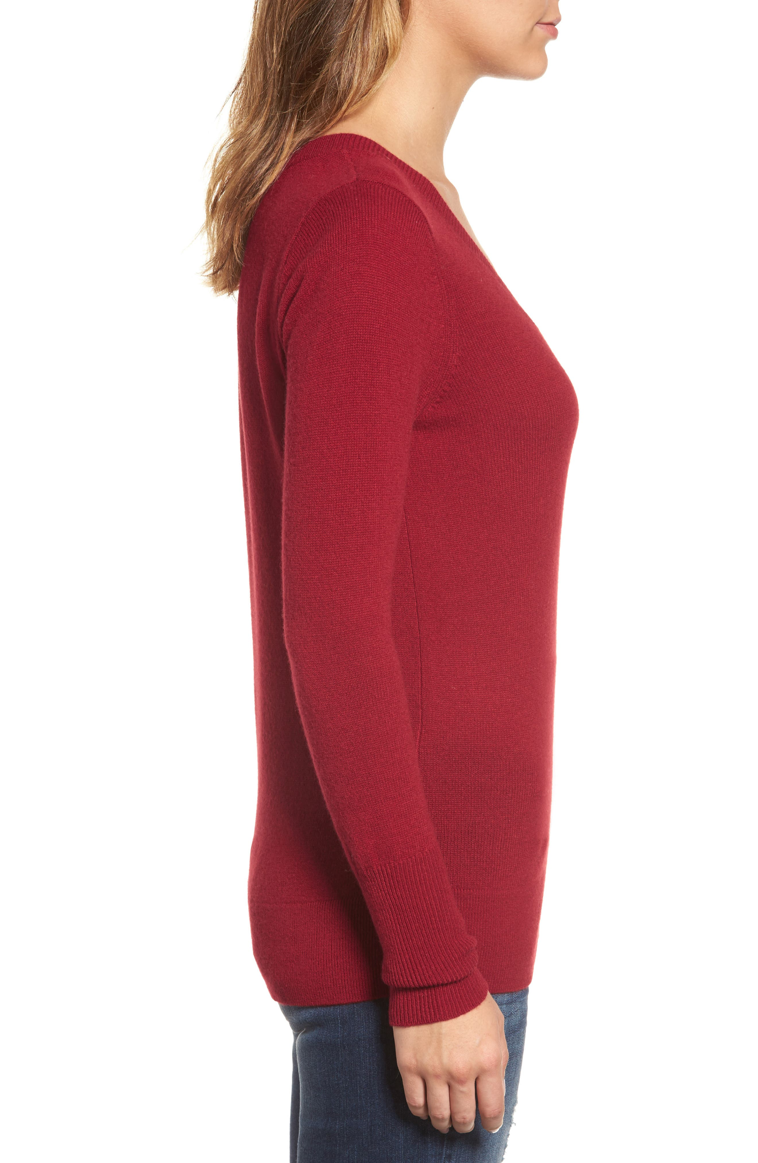 V-Neck Cashmere Sweater,                             Alternate thumbnail 51, color,