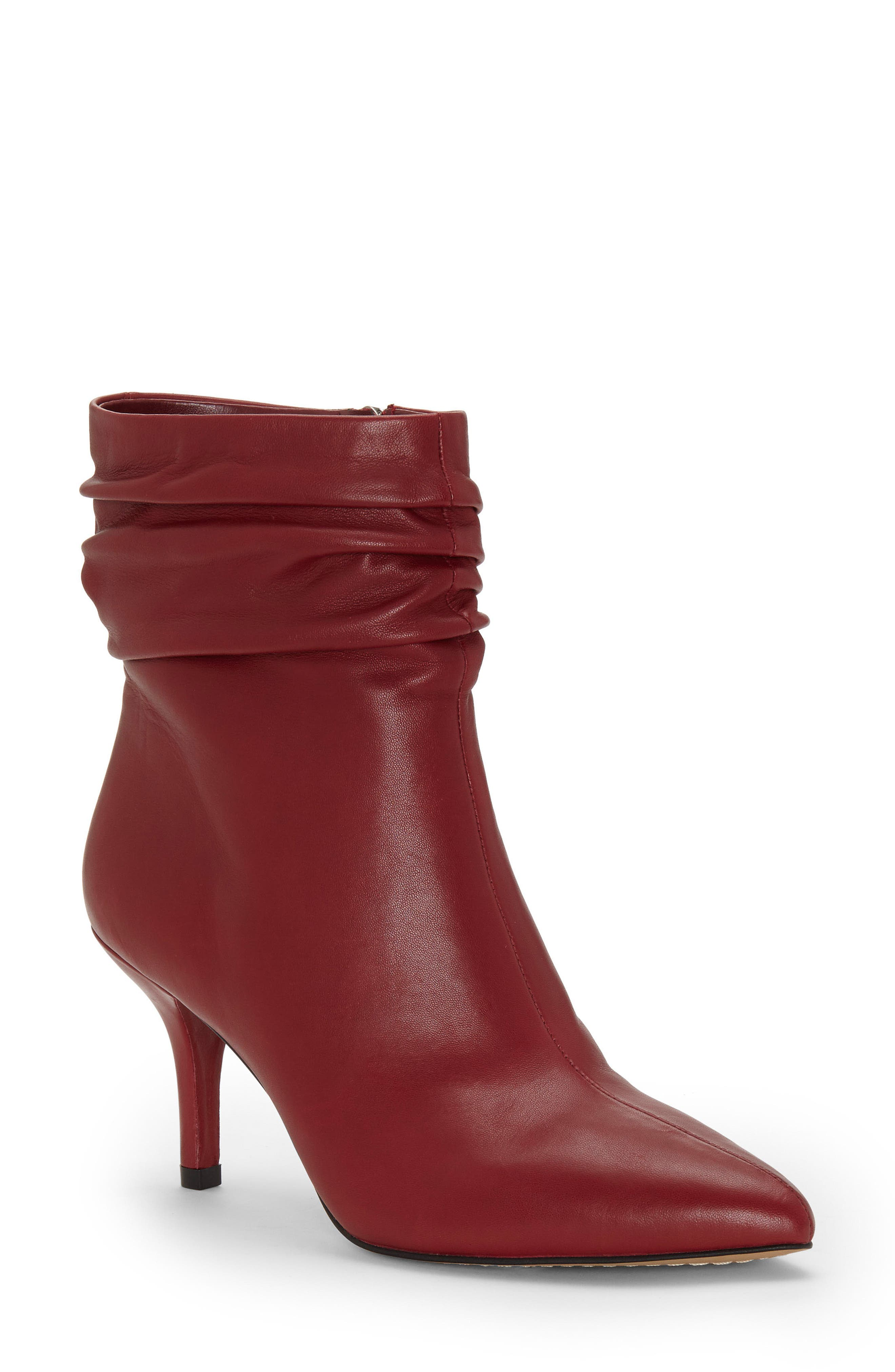 Vince Camuto Abrianna Bootie- Red