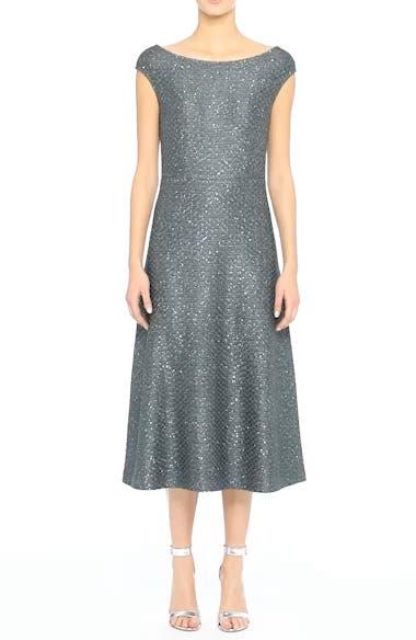 Sequin Knit Midi Dress, video thumbnail