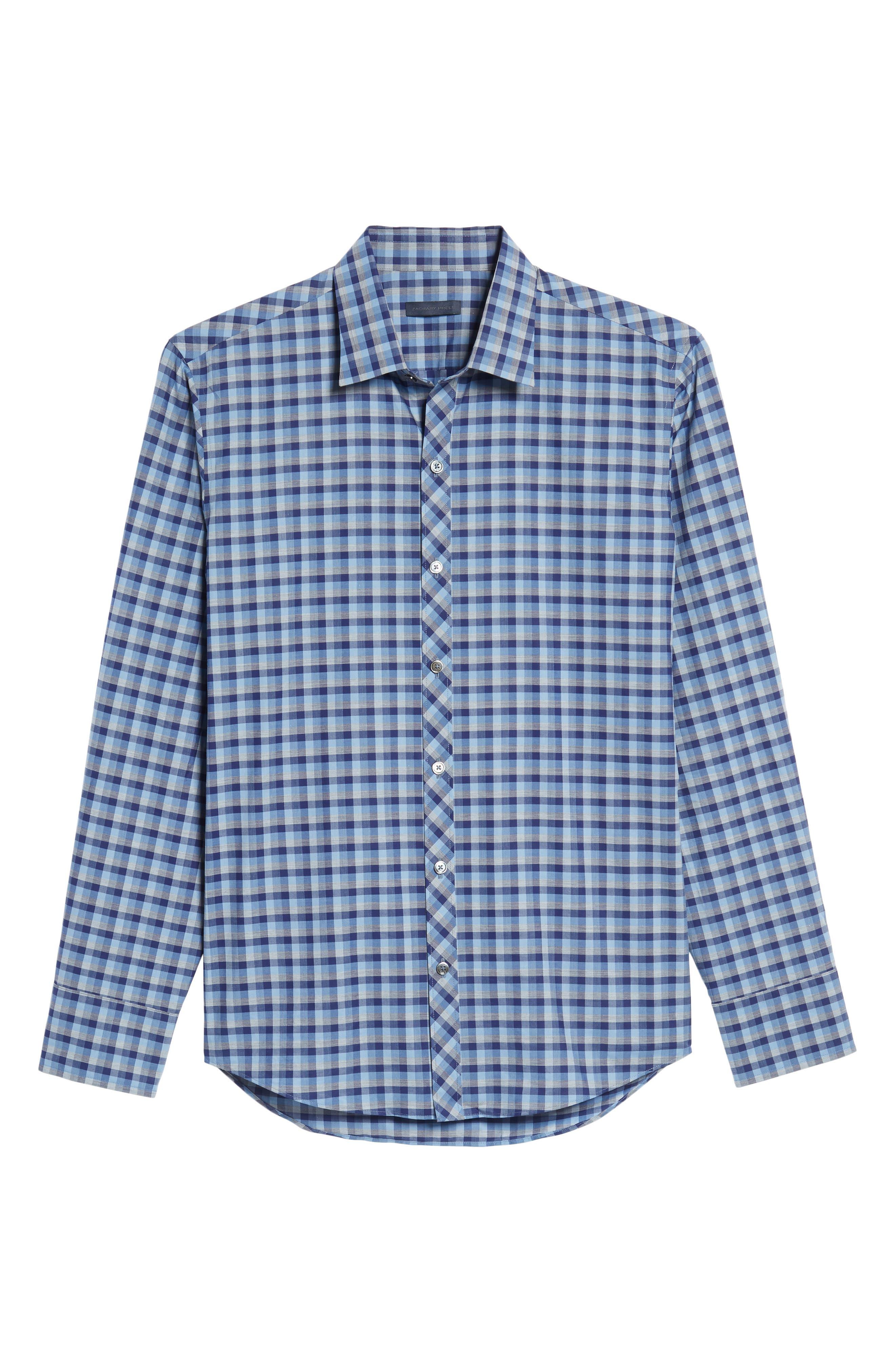 Santos Plaid Sport Shirt,                             Alternate thumbnail 6, color,                             432