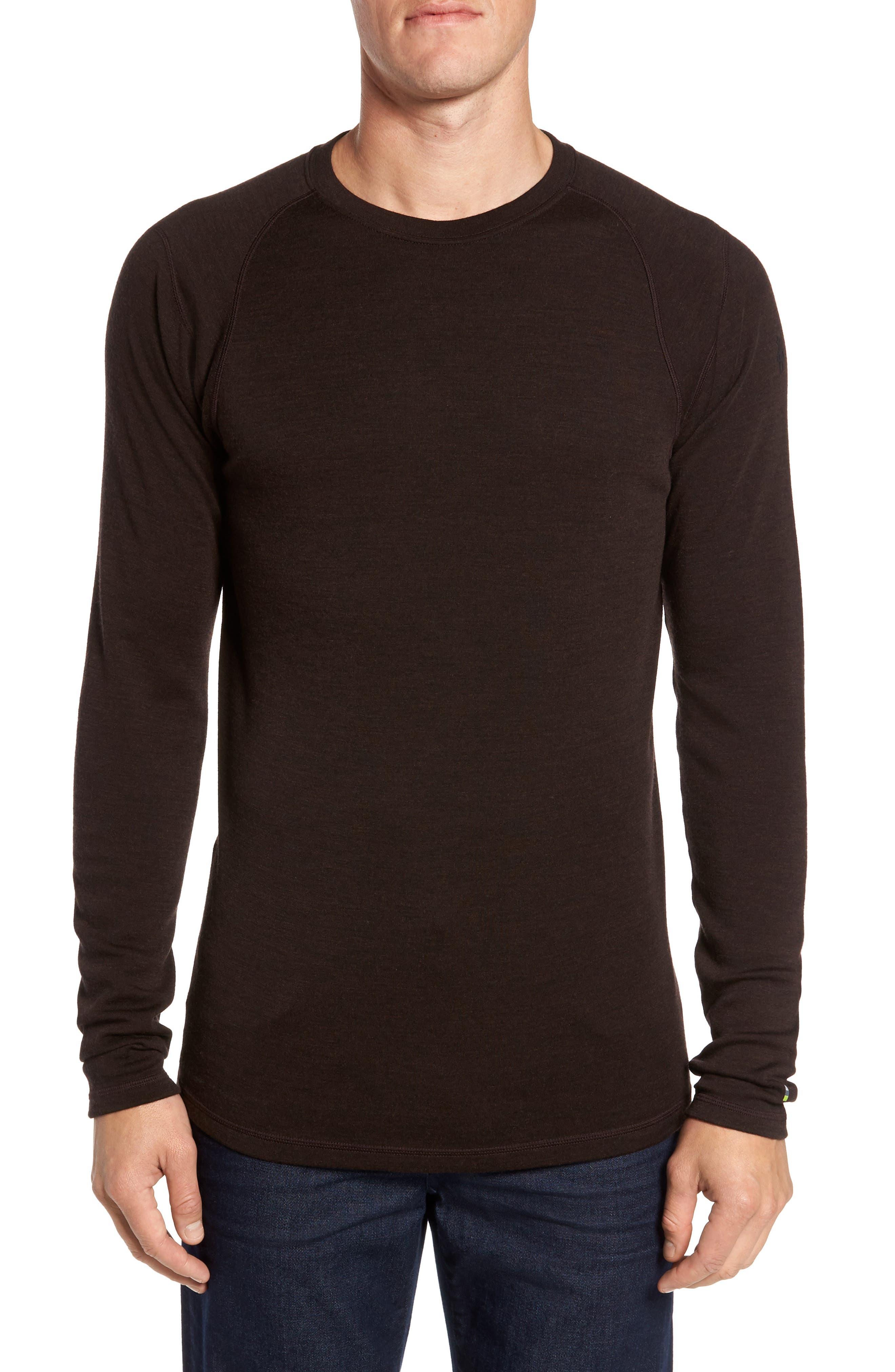 Merino 250 Base Layer Crewneck T-Shirt,                         Main,                         color, SUMATRA HEATHER