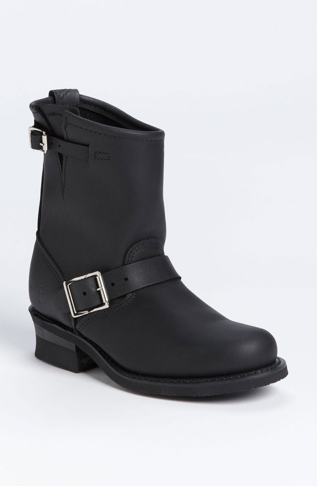 'Engineer 8R' Leather Boot,                             Main thumbnail 1, color,                             BLACK