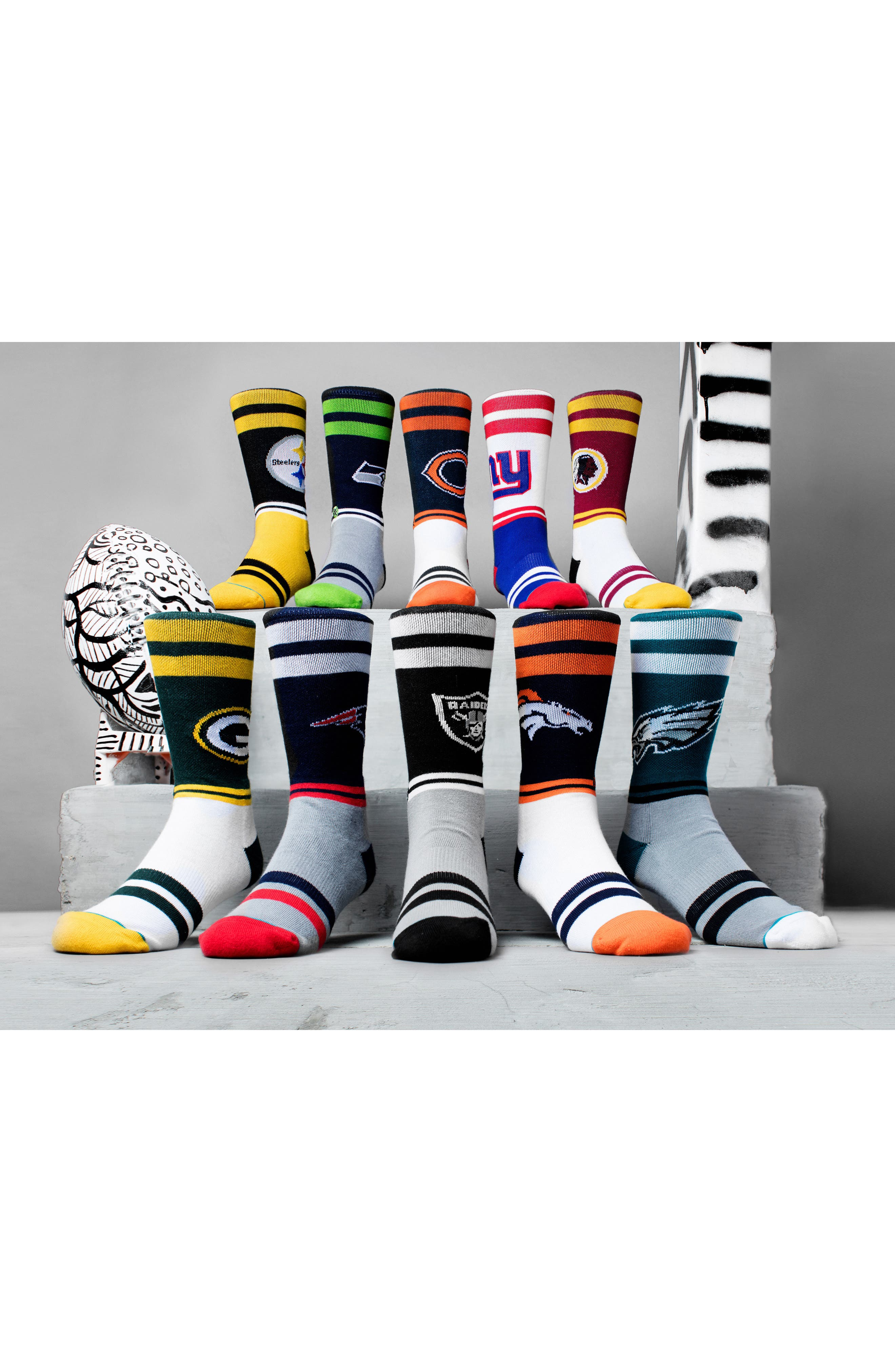 Oakland Raiders Sideline Socks,                             Alternate thumbnail 4, color,                             001
