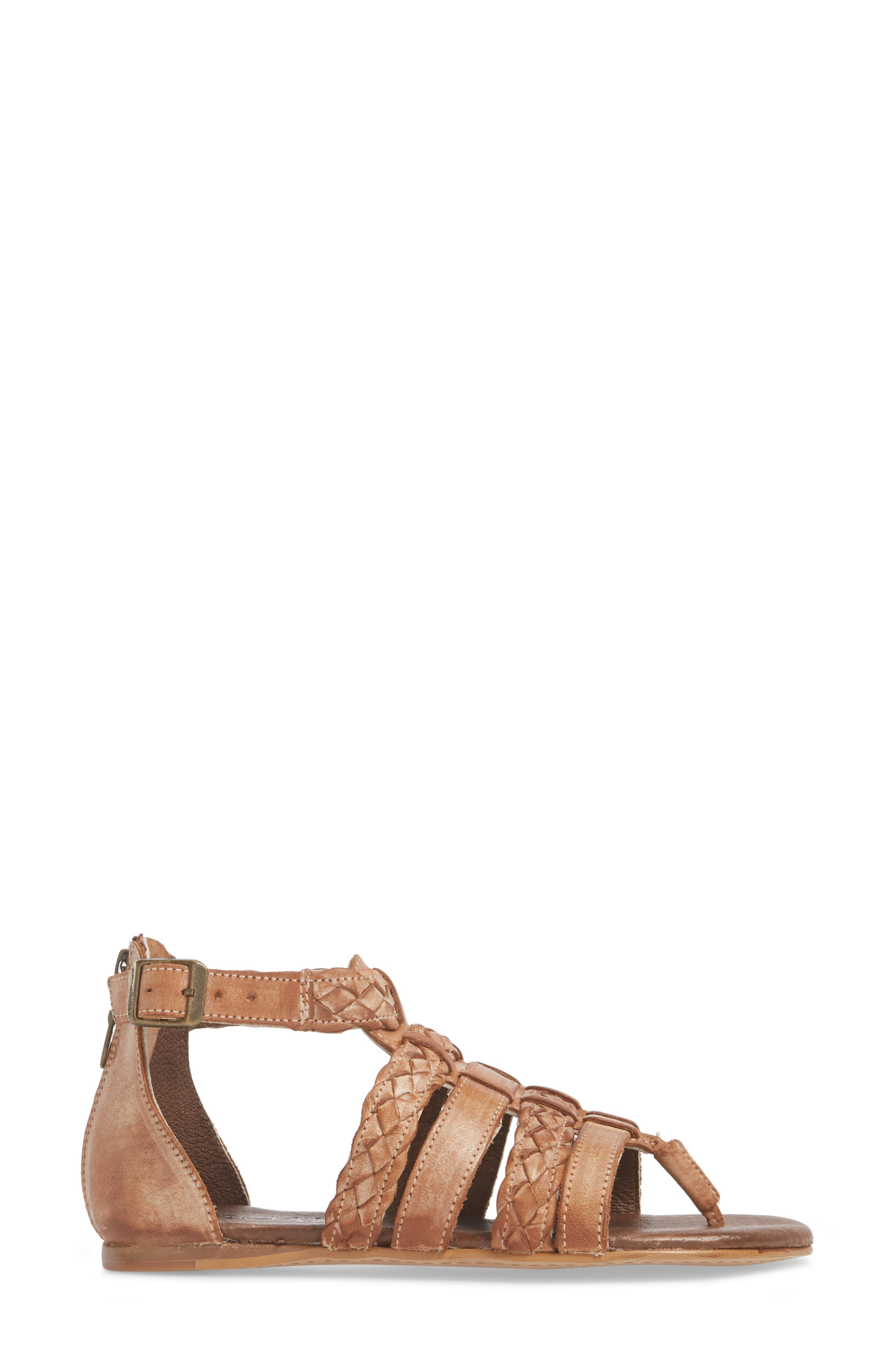 Kaliope Sandal,                             Alternate thumbnail 3, color,                             VICTORIA COGNAC/ WHITE