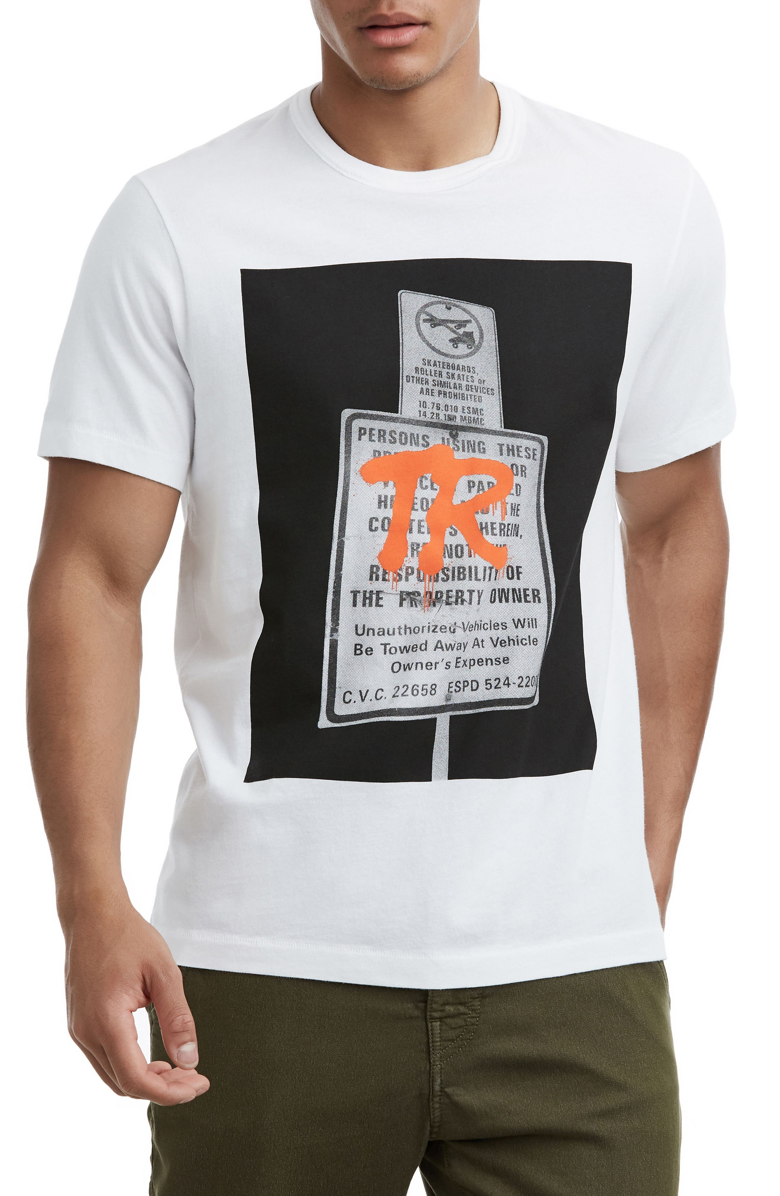 Tagged Sign T-Shirt,                         Main,                         color, OPTIC WHITE