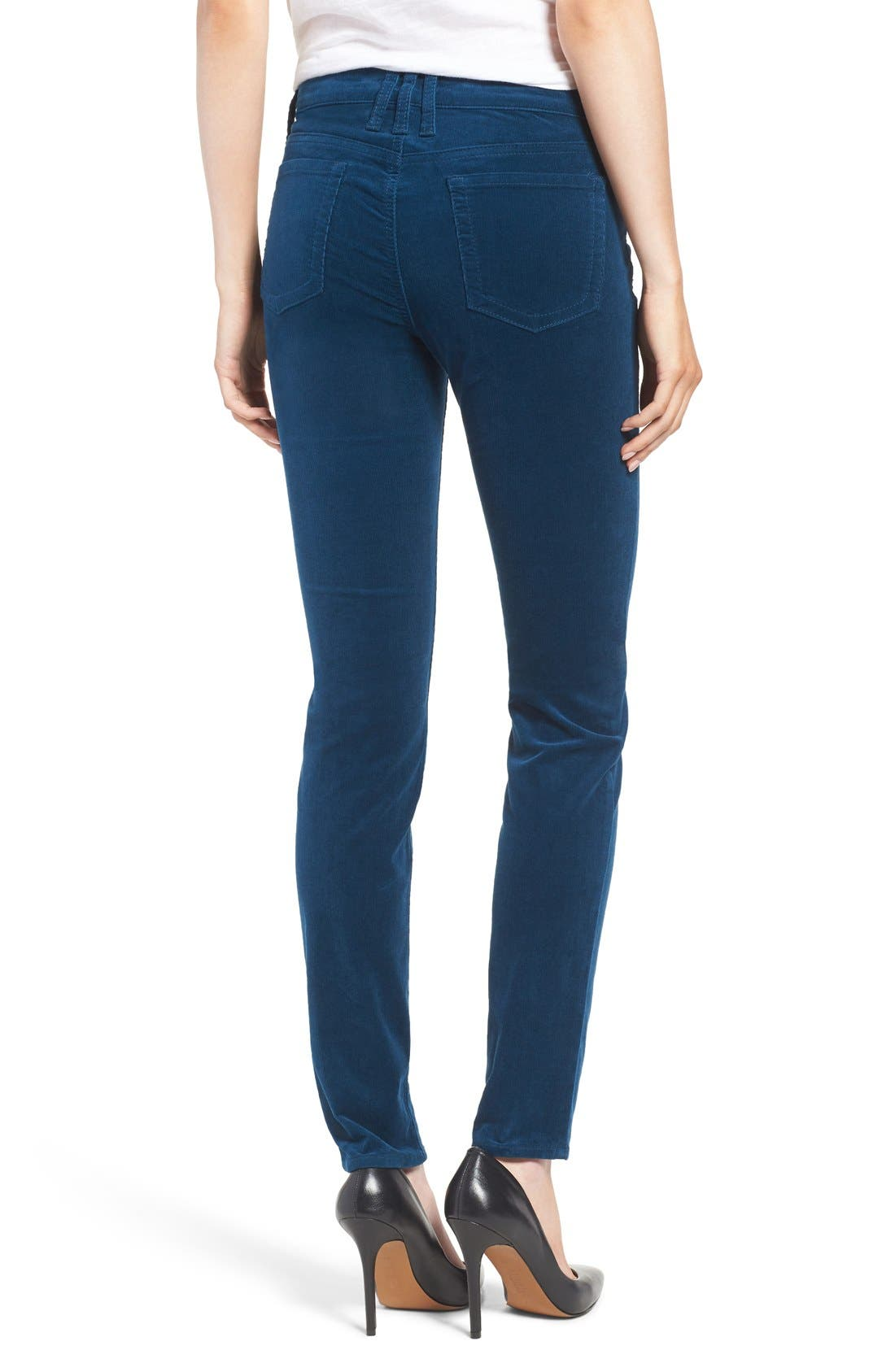 'Diana' Stretch Corduroy Skinny Pants,                             Alternate thumbnail 91, color,