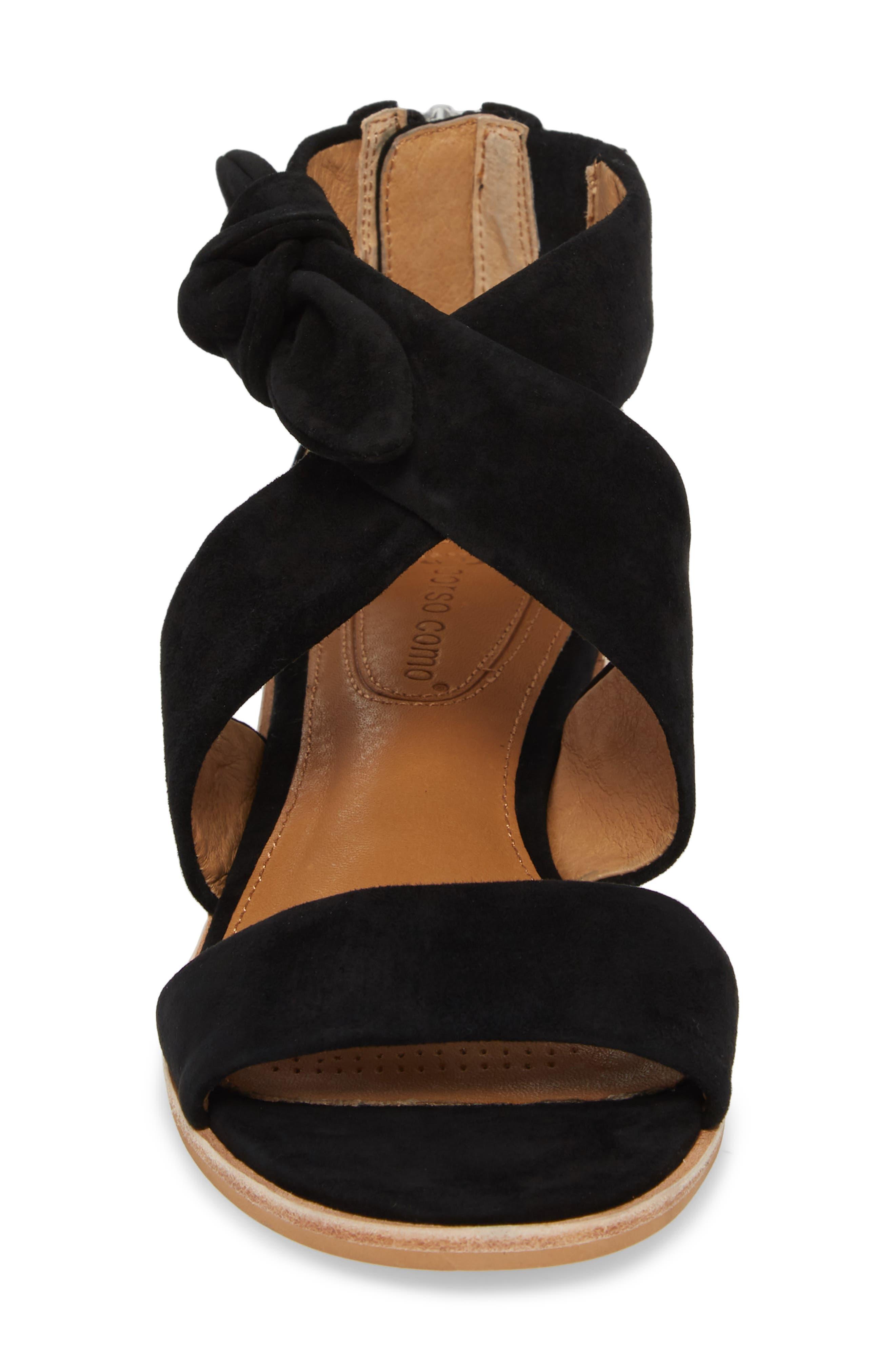 Rasque Sandal,                             Alternate thumbnail 4, color,                             BLACK LEATHER