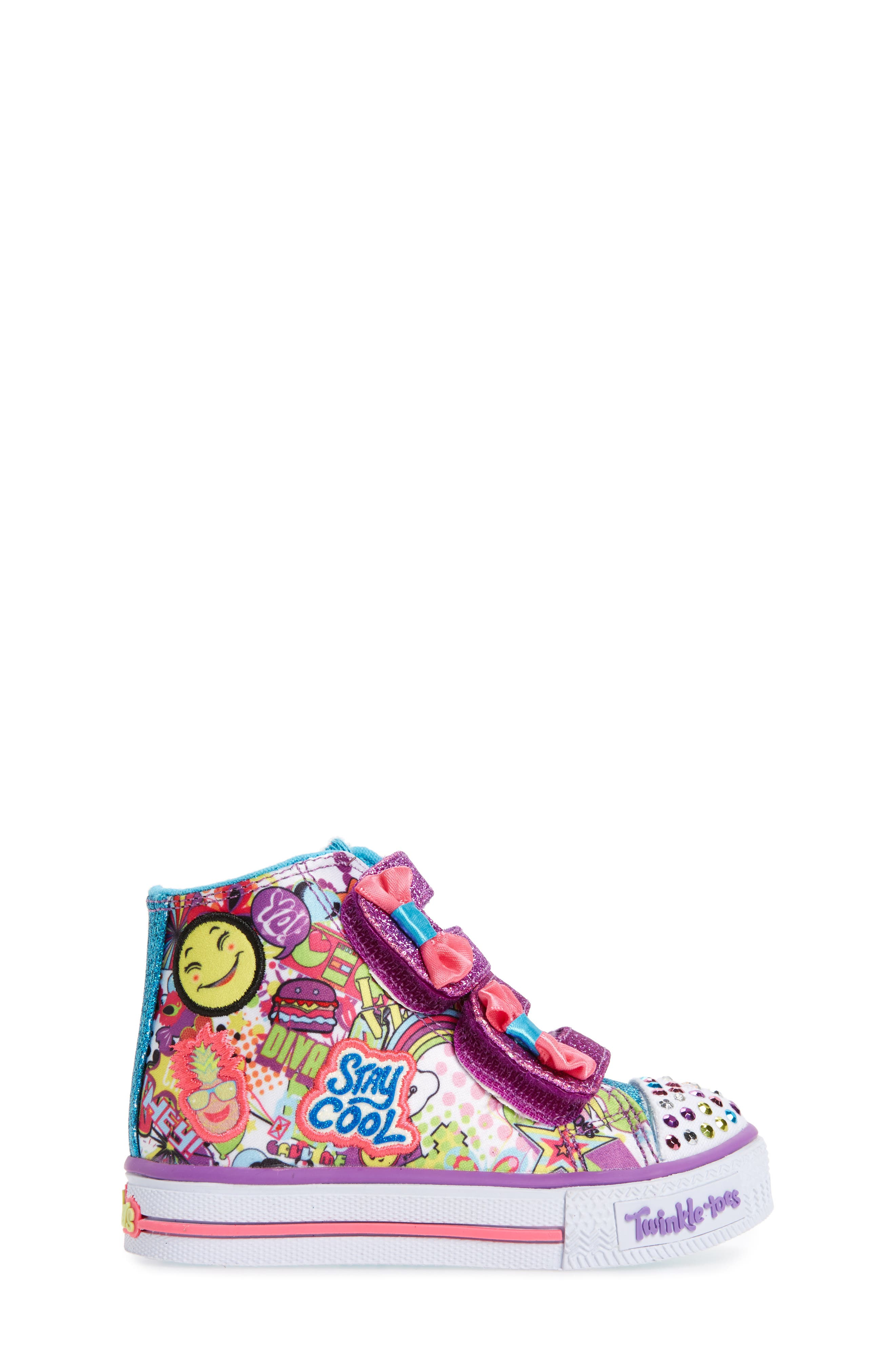 Twinkle Toes Shuffles Light-Up Sneaker,                             Alternate thumbnail 3, color,                             484