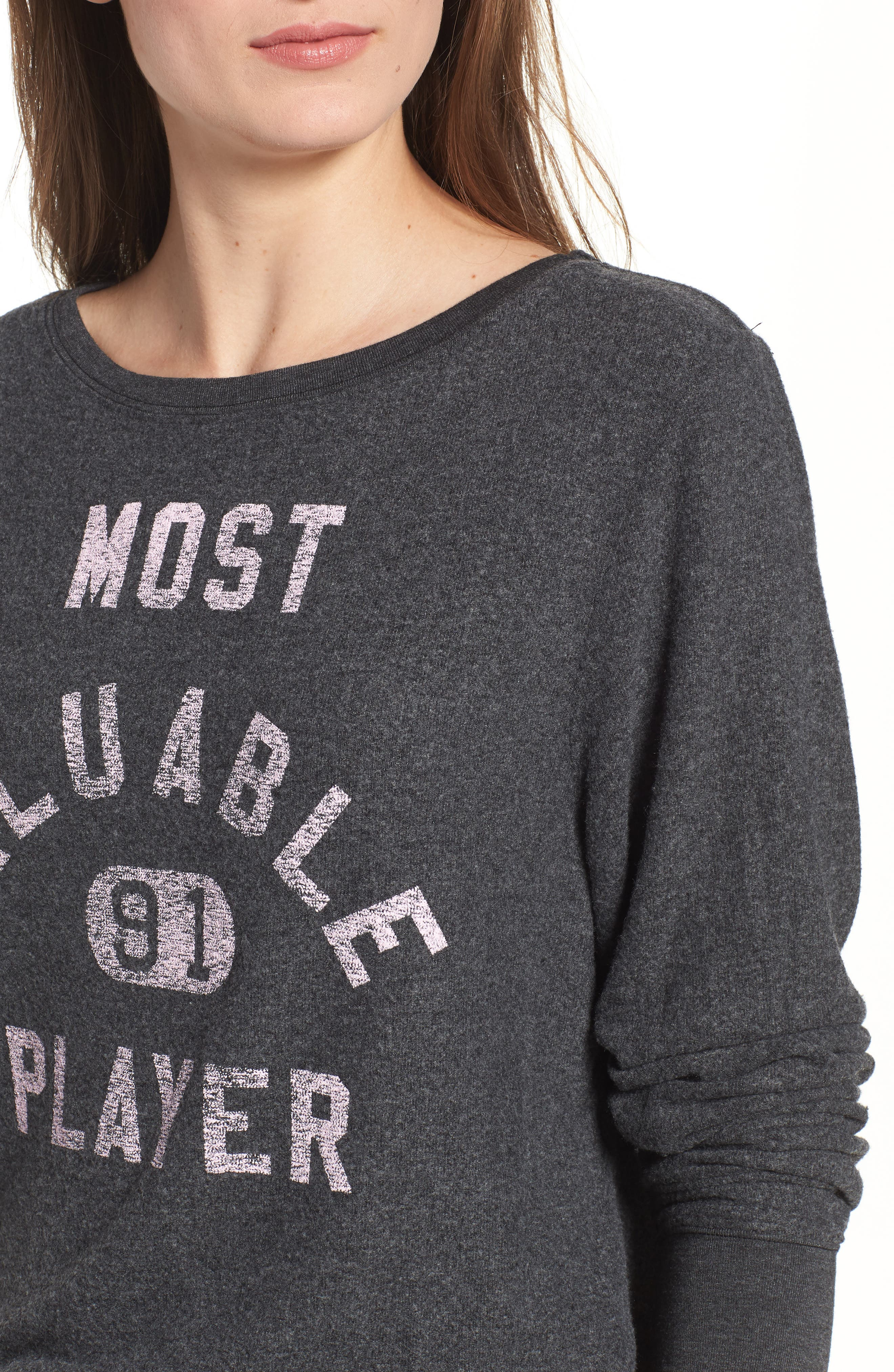 Most Valuable Player Baggy Beach Jumper Sweatshirt,                             Alternate thumbnail 4, color,                             002