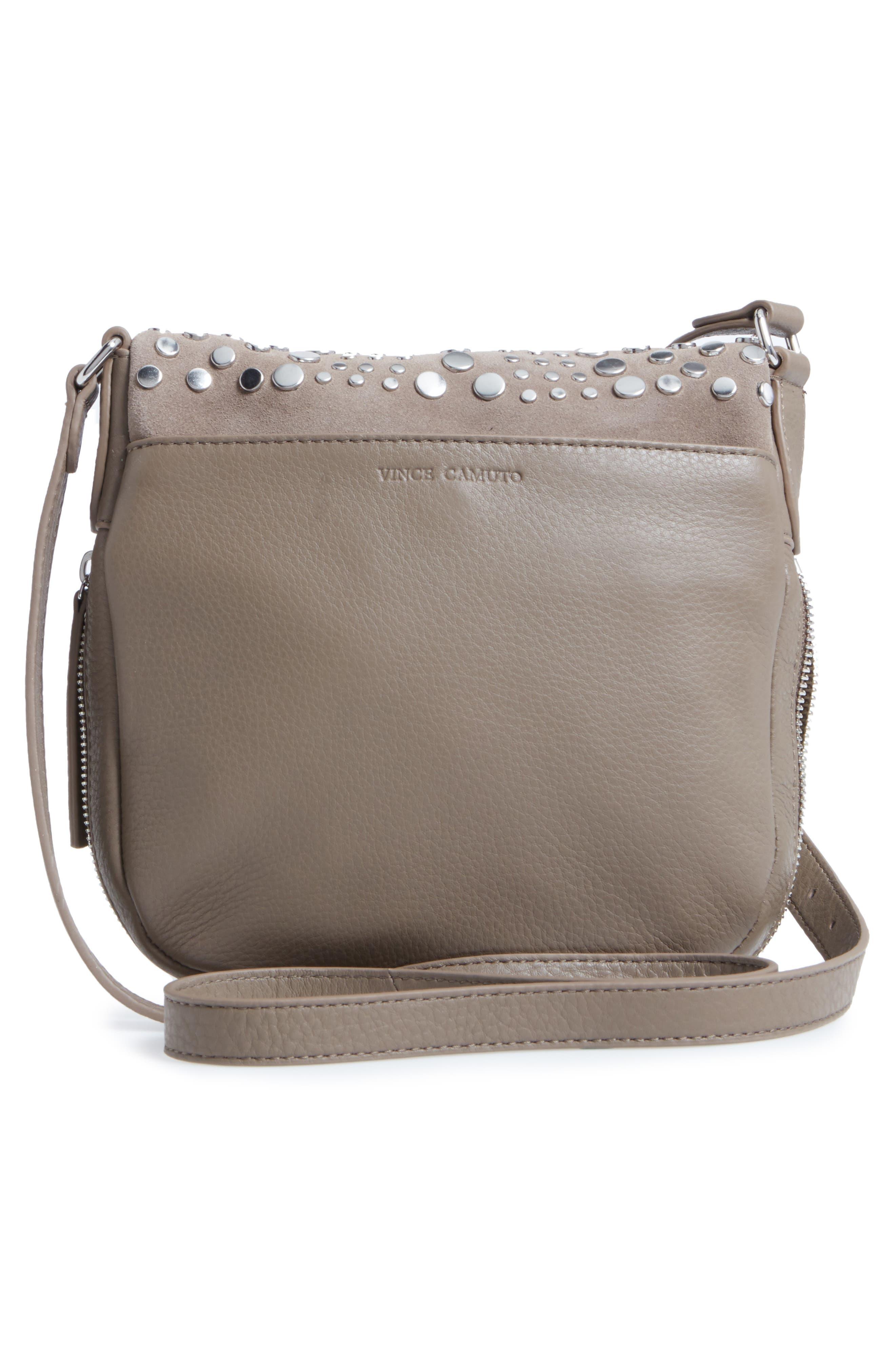 Bonny Studded Leather Crossbody Bag,                             Alternate thumbnail 6, color,