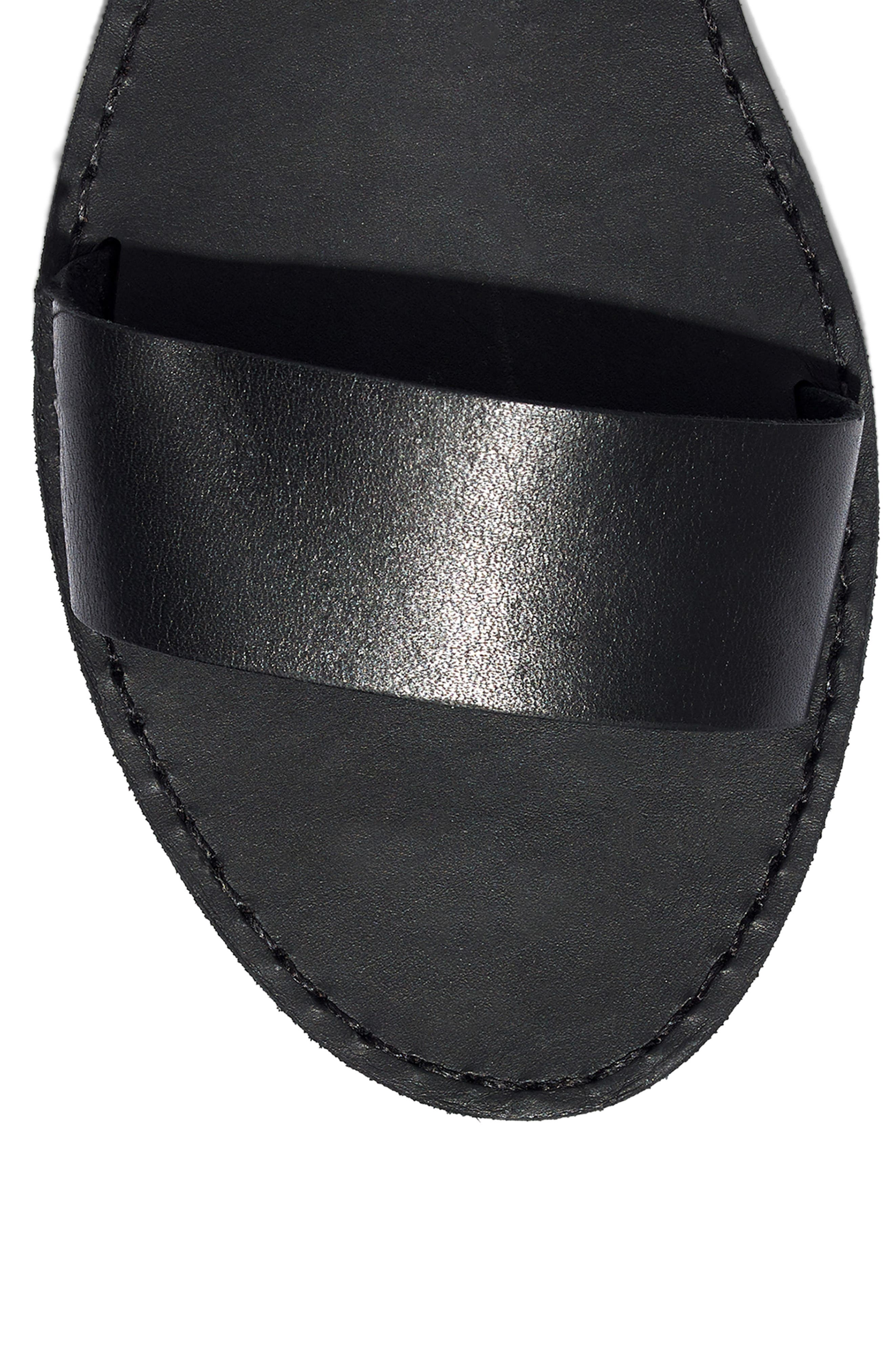 MADEWELL,                             The Boardwalk Ankle Strap Sandal,                             Alternate thumbnail 7, color,                             TRUE BLACK LEATHER