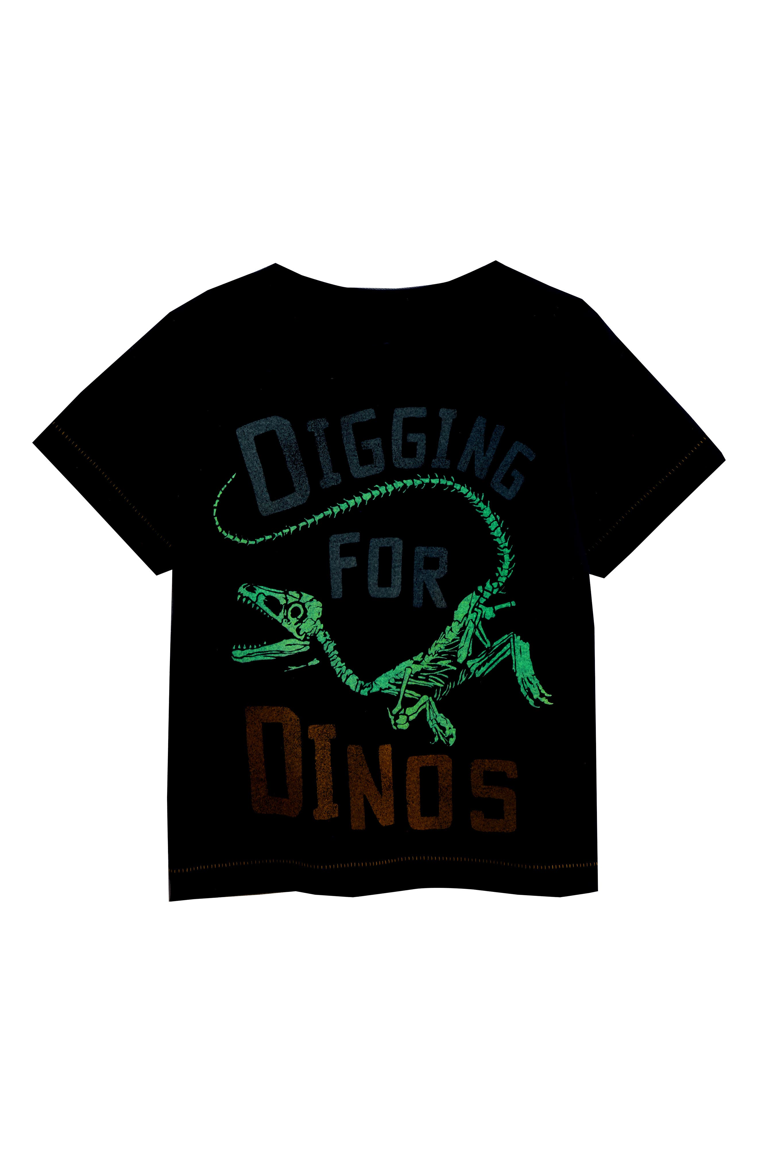 Digging for Dinos Glow in the Dark T-Shirt,                             Alternate thumbnail 3, color,                             410