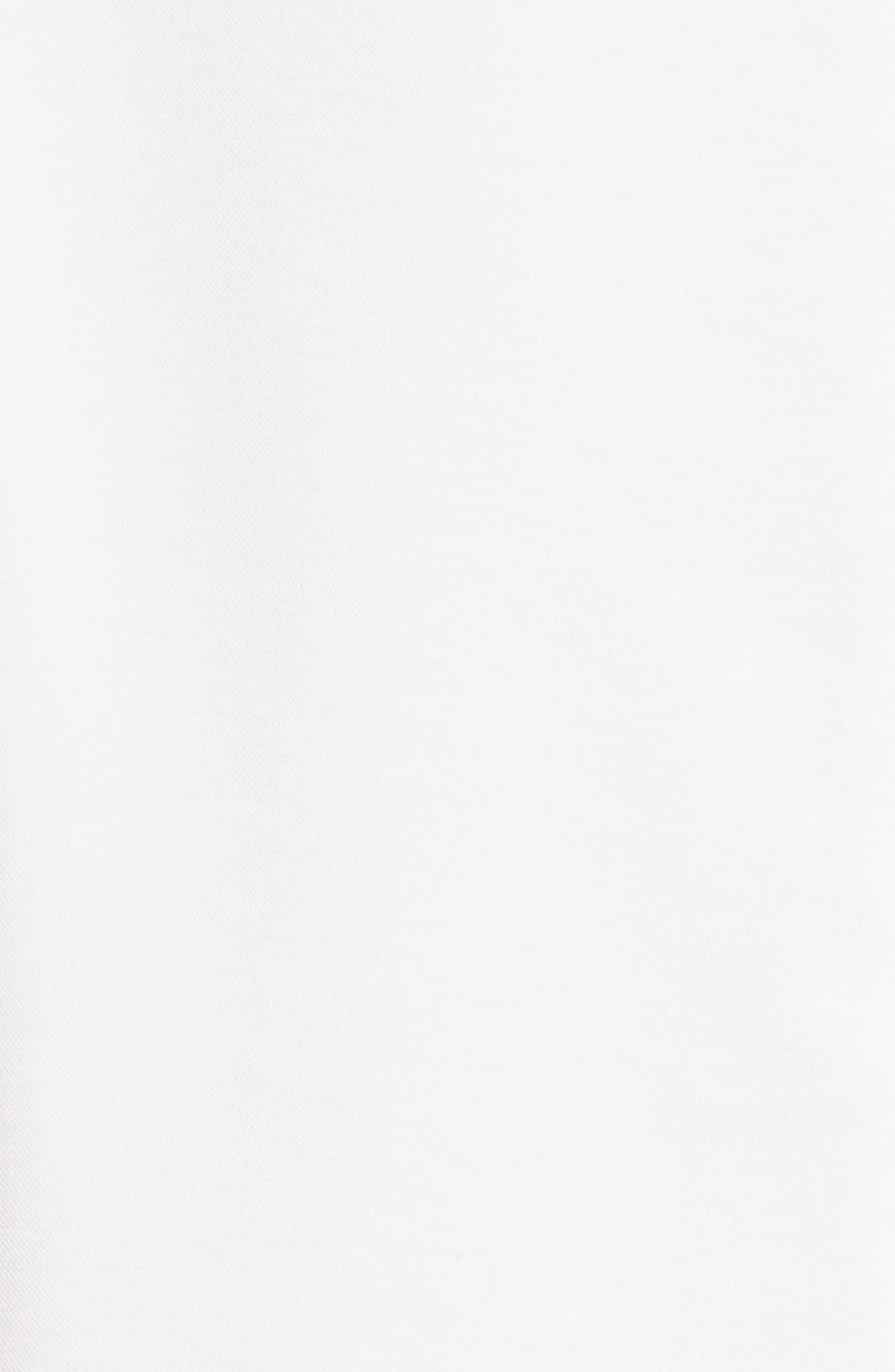 Asymmetrical Flap Front Dress,                             Alternate thumbnail 5, color,                             100