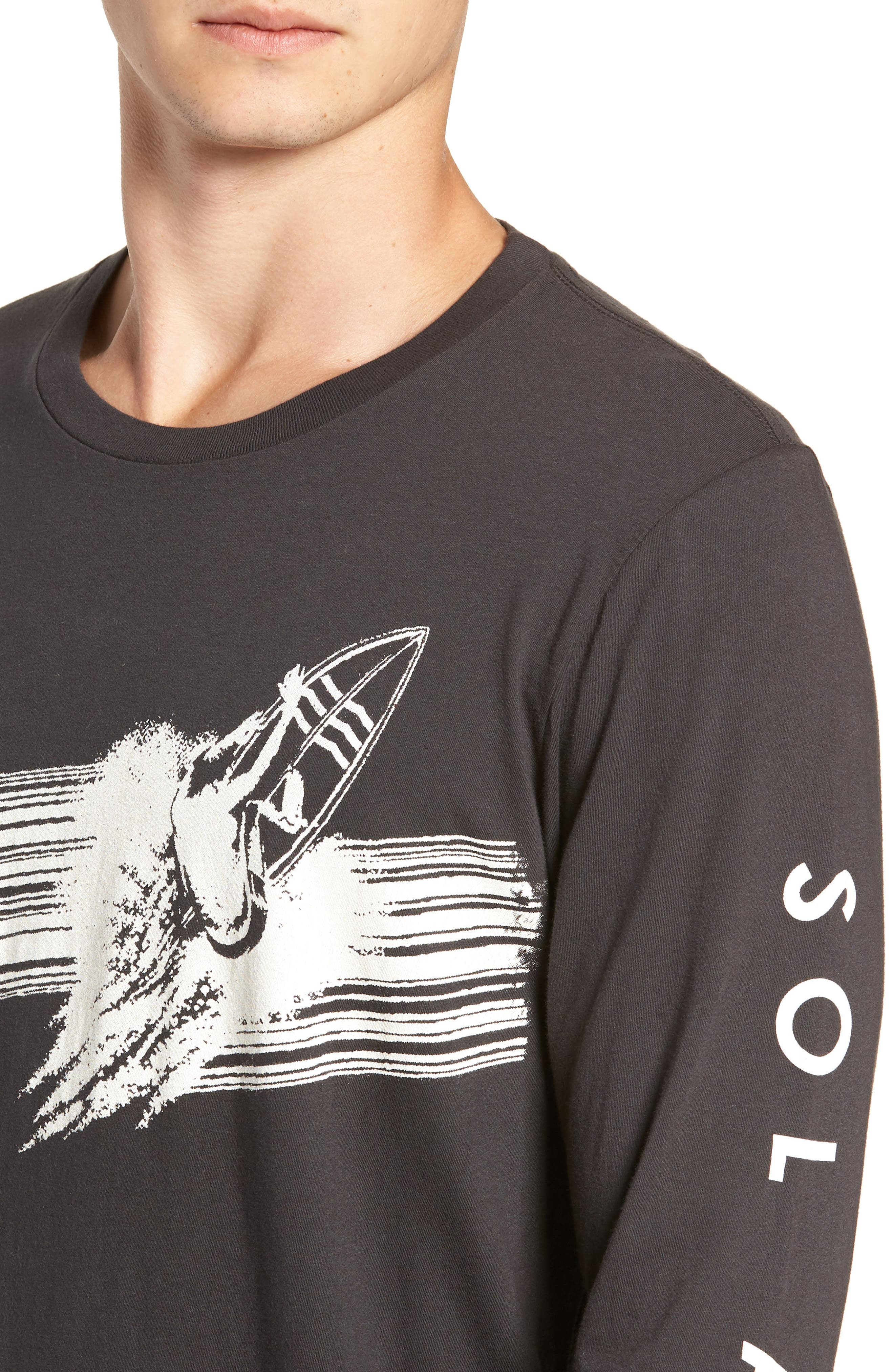 Highline Graphic T-Shirt,                             Alternate thumbnail 4, color,                             V BLACK