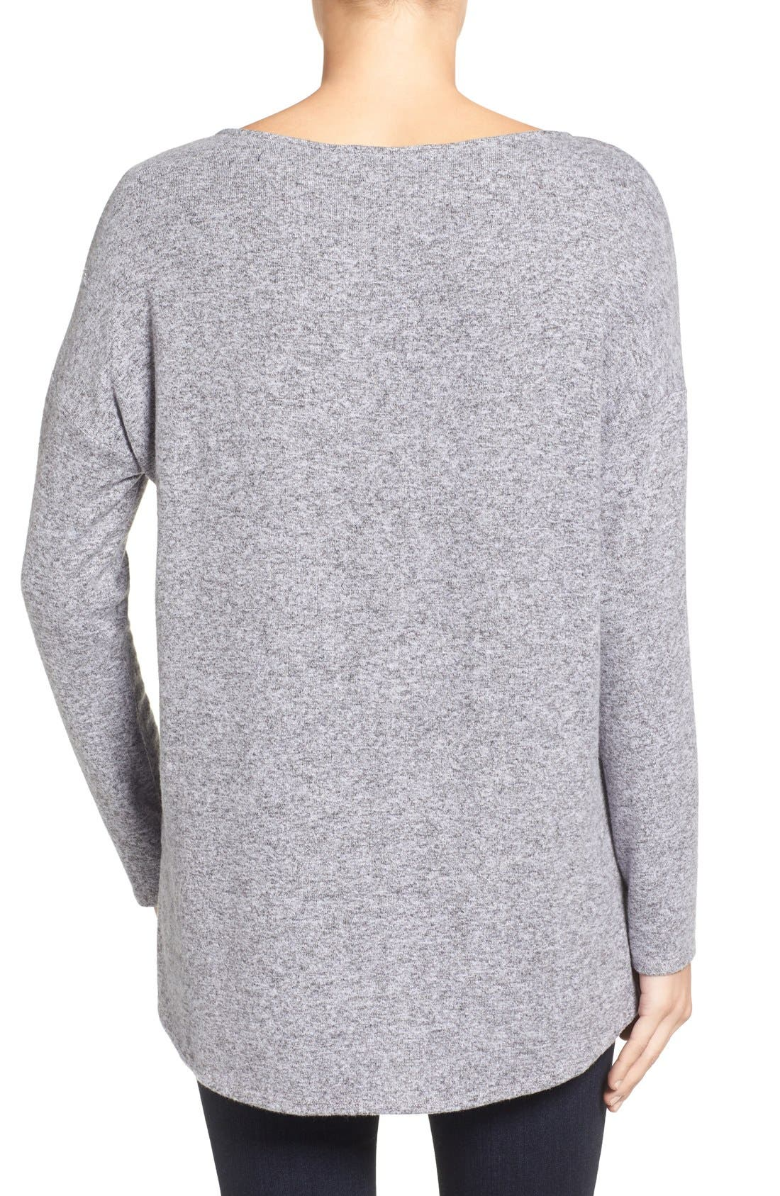 Cozy Ballet Neck High/Low Pullover,                             Alternate thumbnail 31, color,