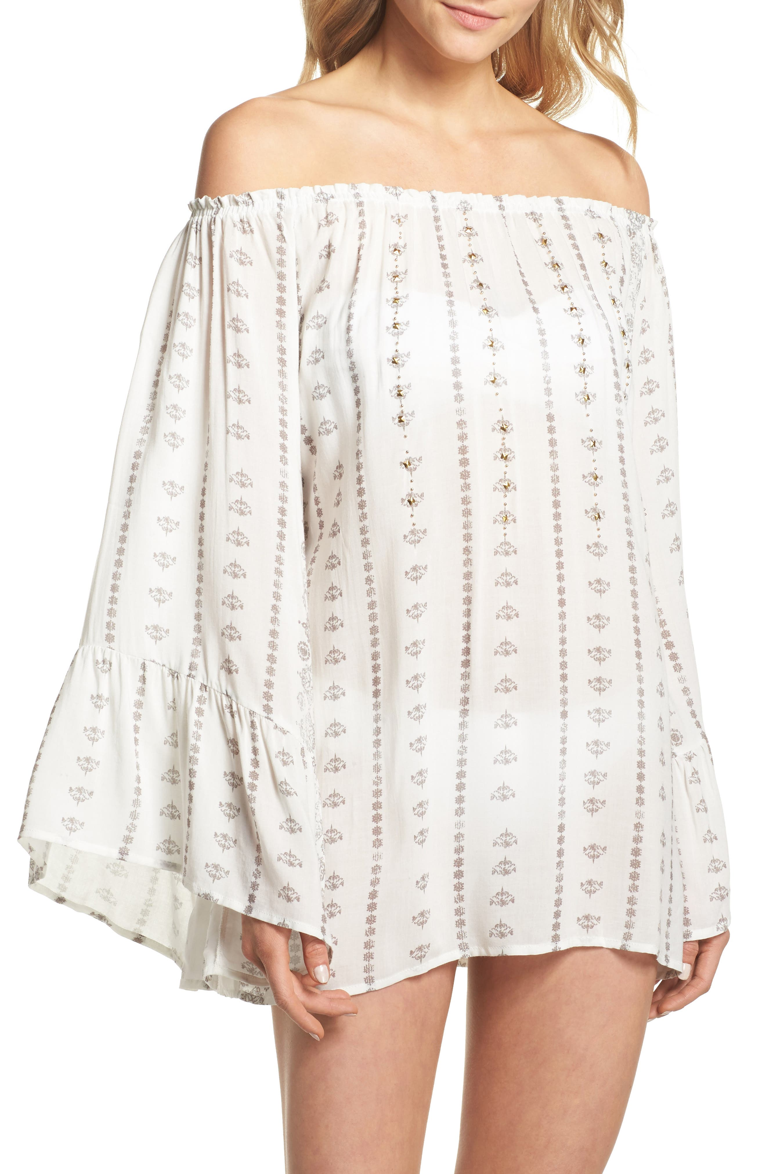 Sunset Stripe Cover-Up,                             Main thumbnail 2, color,