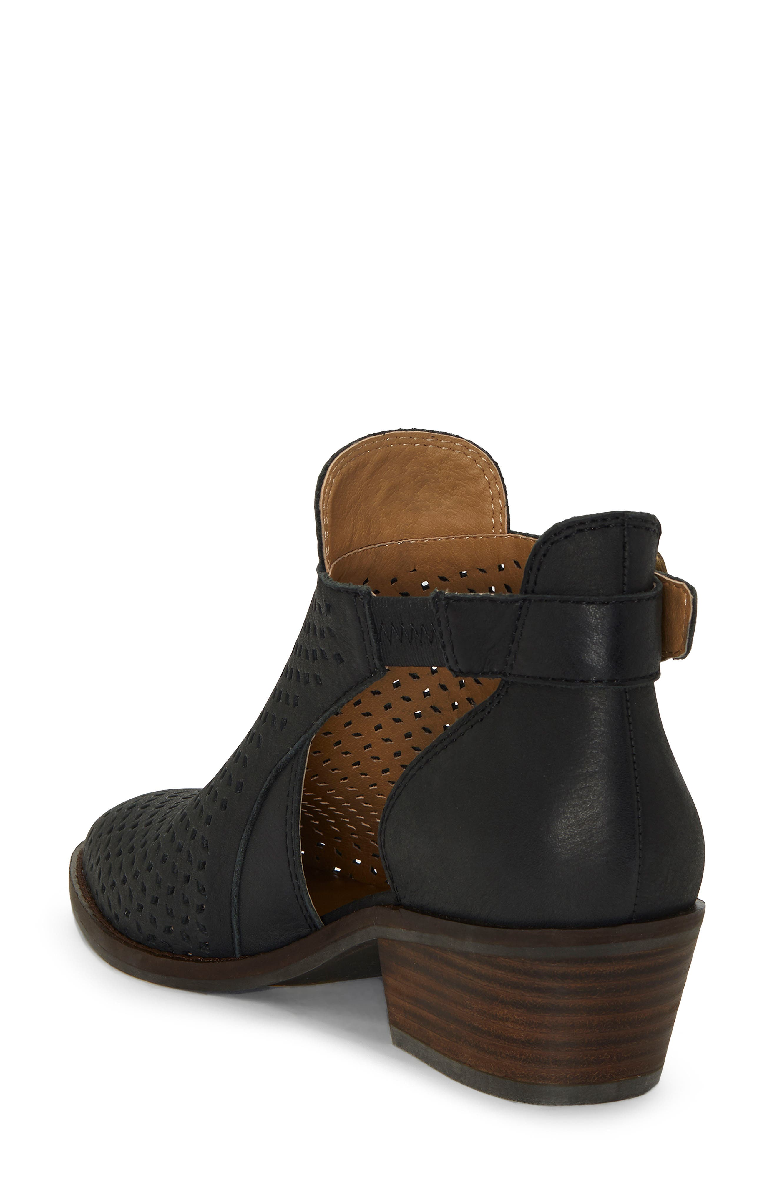 Fillian Bootie,                             Alternate thumbnail 2, color,                             BLACK LEATHER