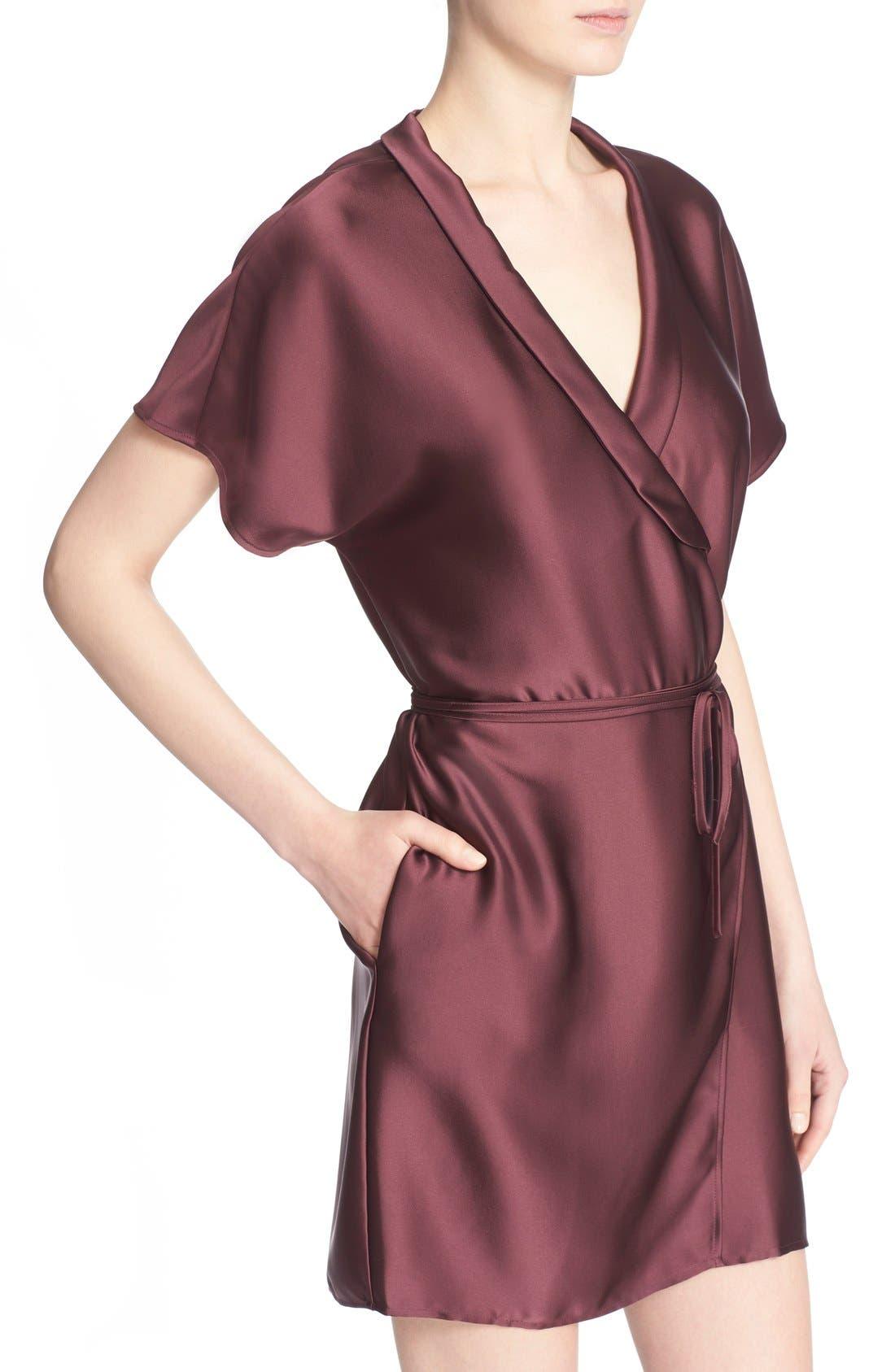 'The Wrap' Short Sleeve Dress,                             Alternate thumbnail 4, color,                             600