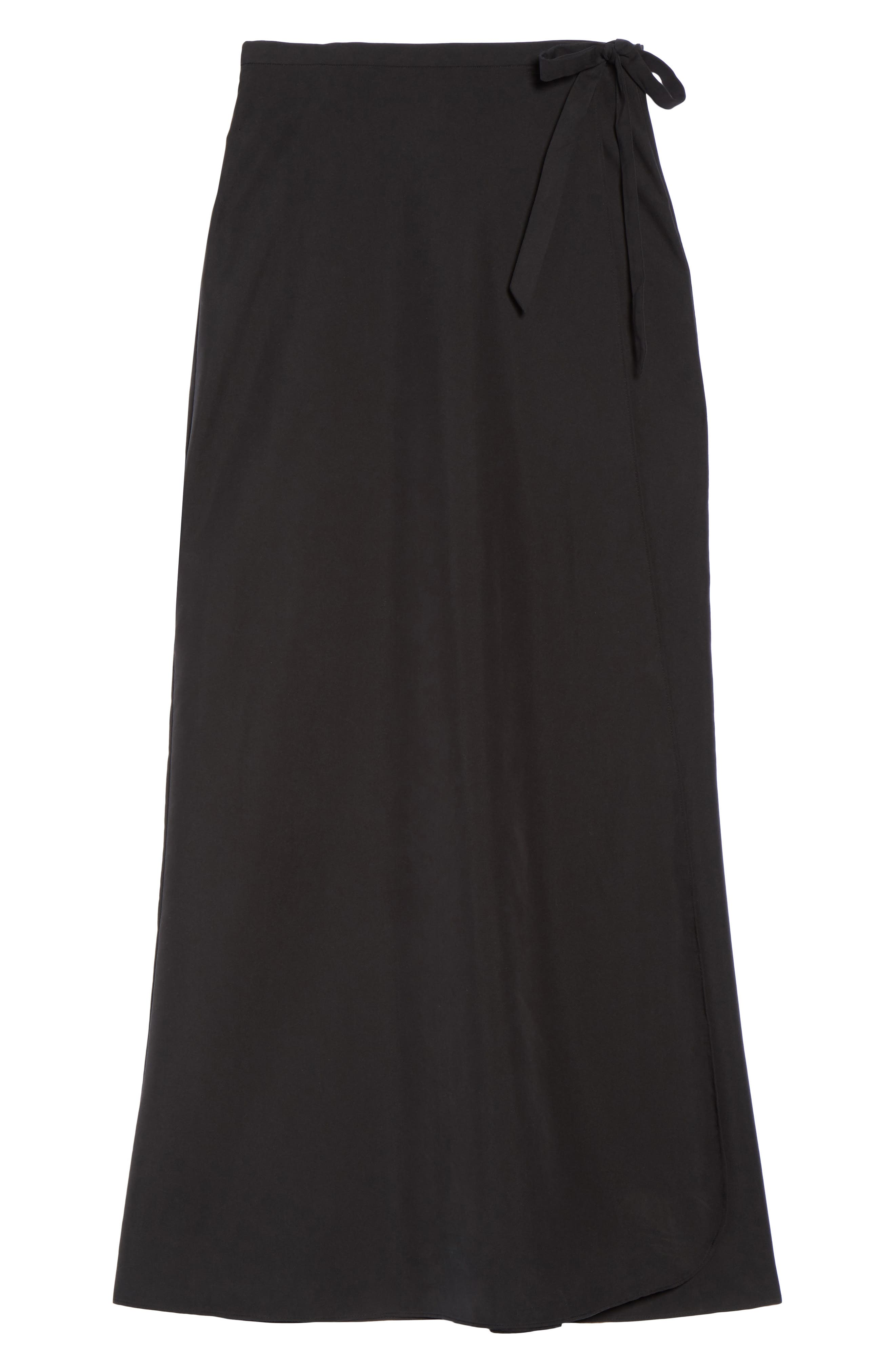 Lasting Impressions Cover-Up Maxi Skirt,                             Alternate thumbnail 6, color,                             001