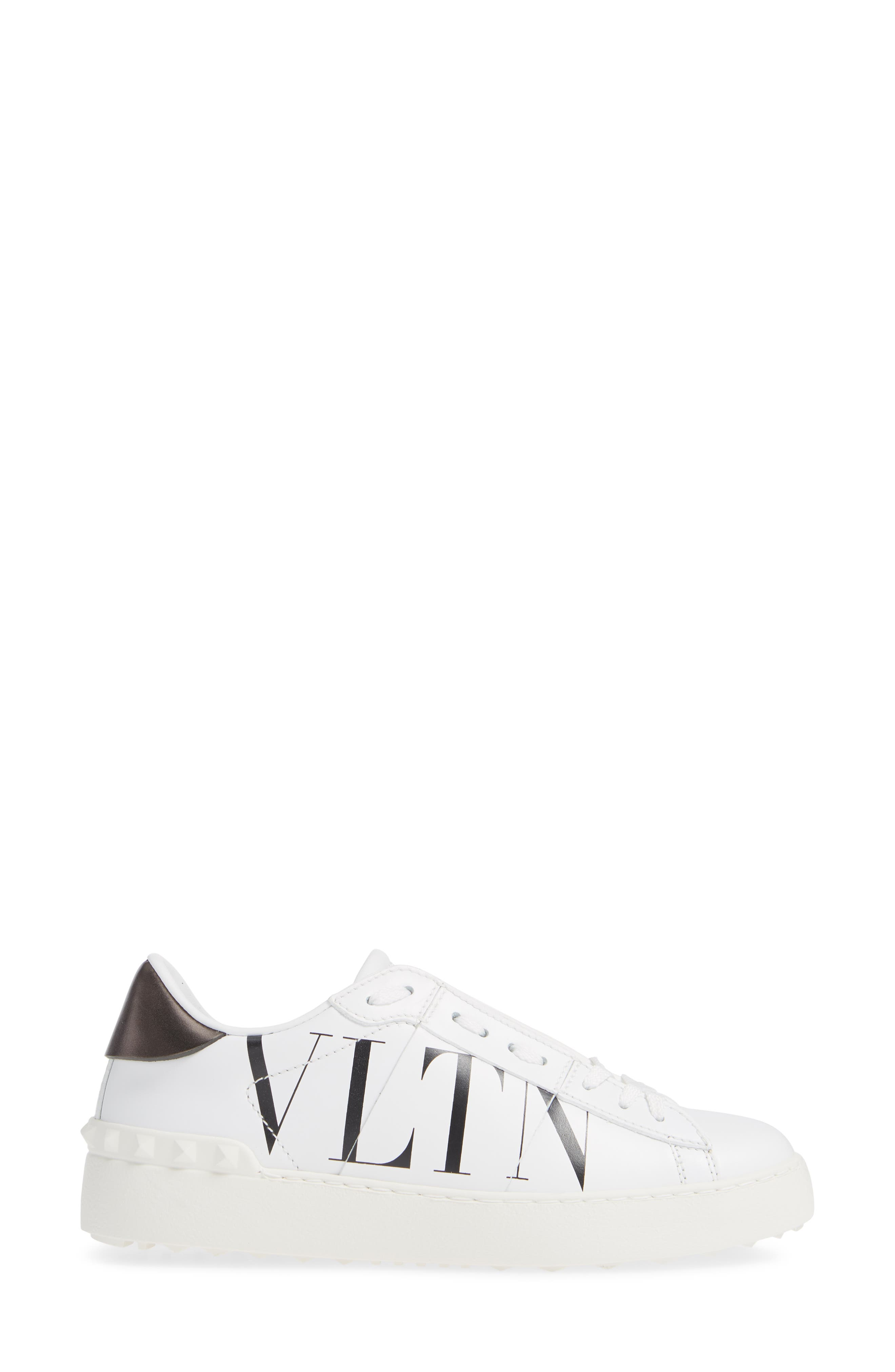 VALENTINO GARAVANI,                             VLTN Logo Low Top Sneaker,                             Alternate thumbnail 3, color,                             102