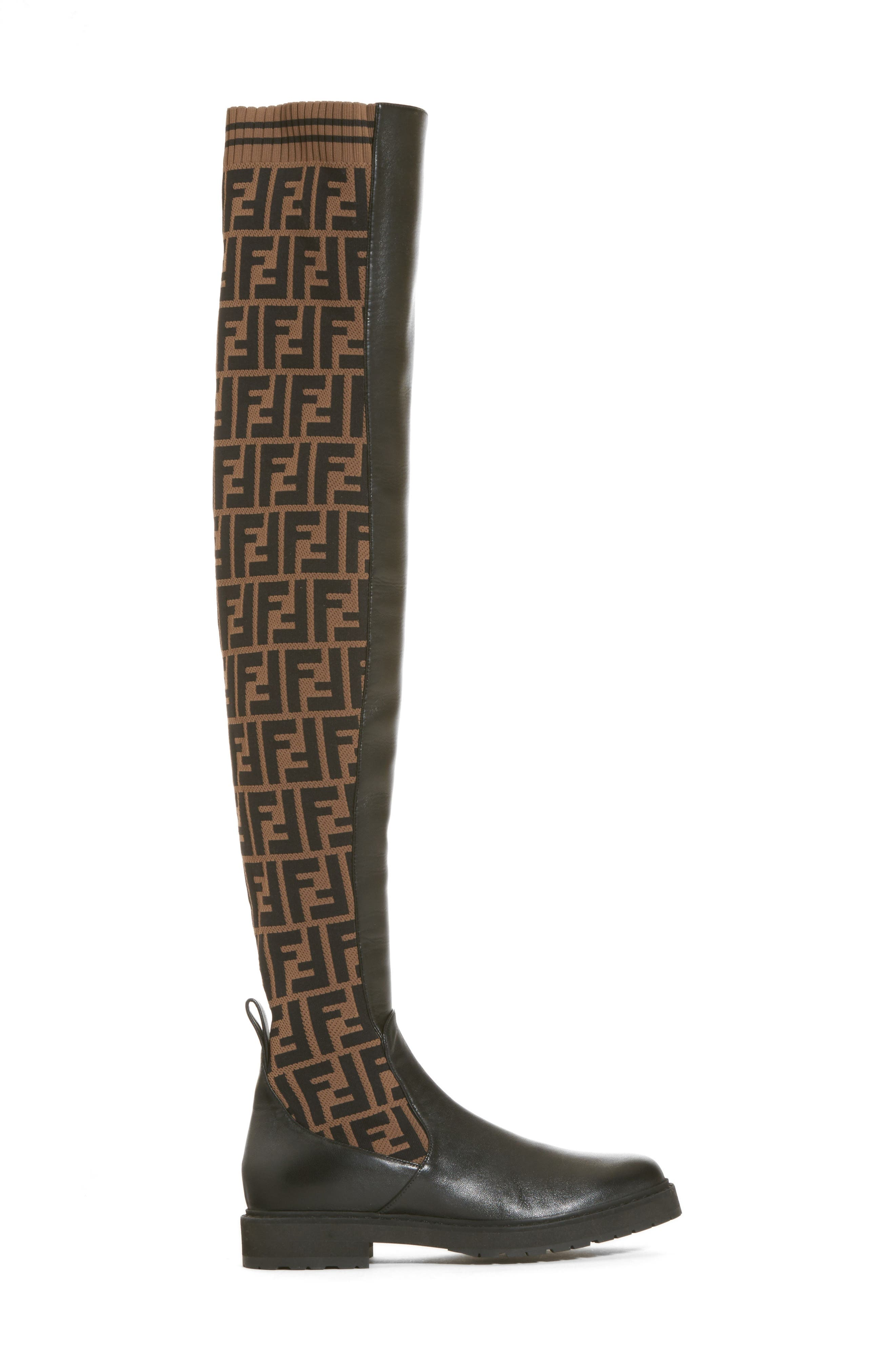 Rockoko Over the Knee Boot,                             Alternate thumbnail 3, color,