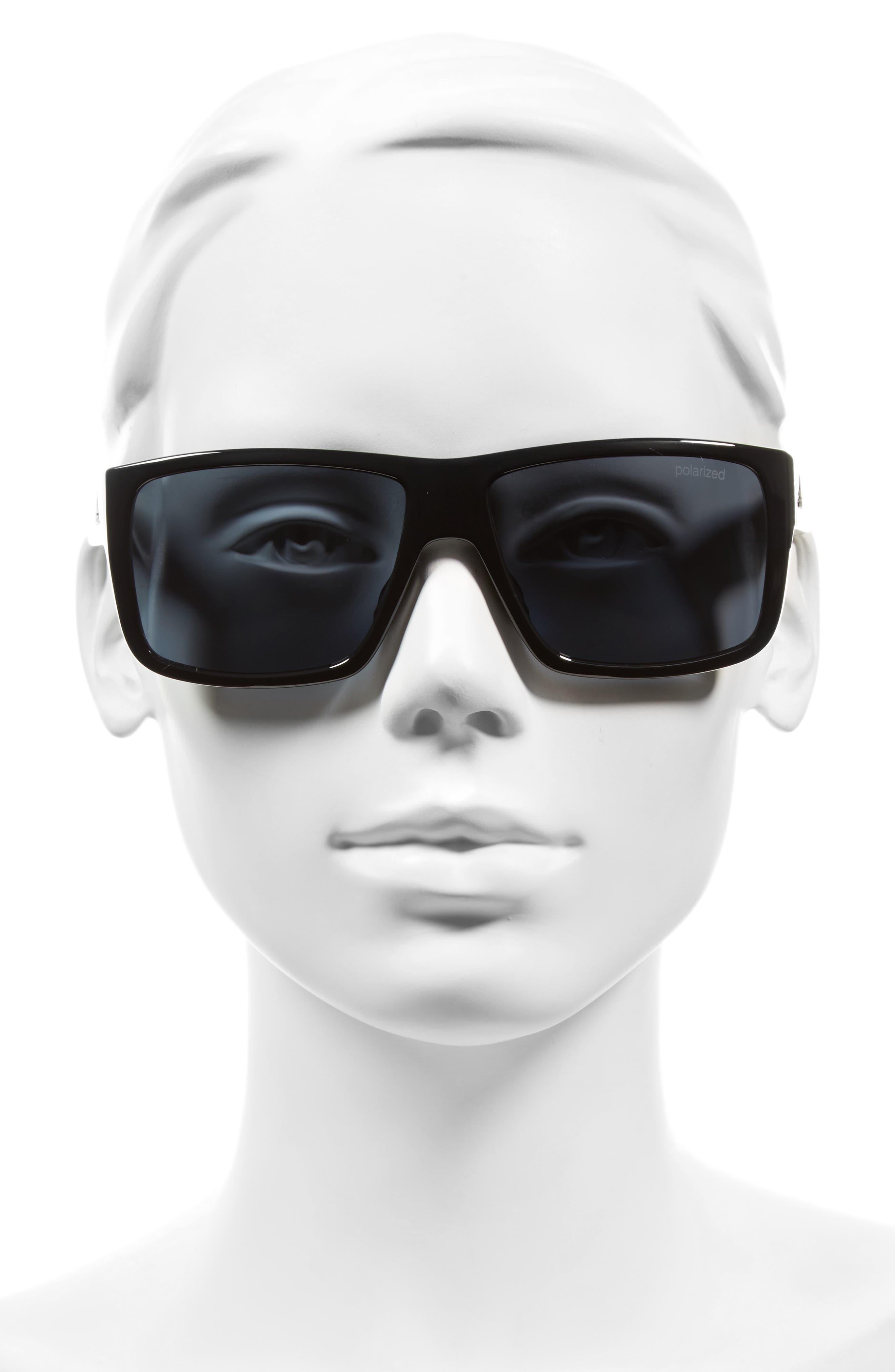 Matic 59mm Sunglasses,                             Alternate thumbnail 2, color,                             SHINY BLACK/ GREY POLAR