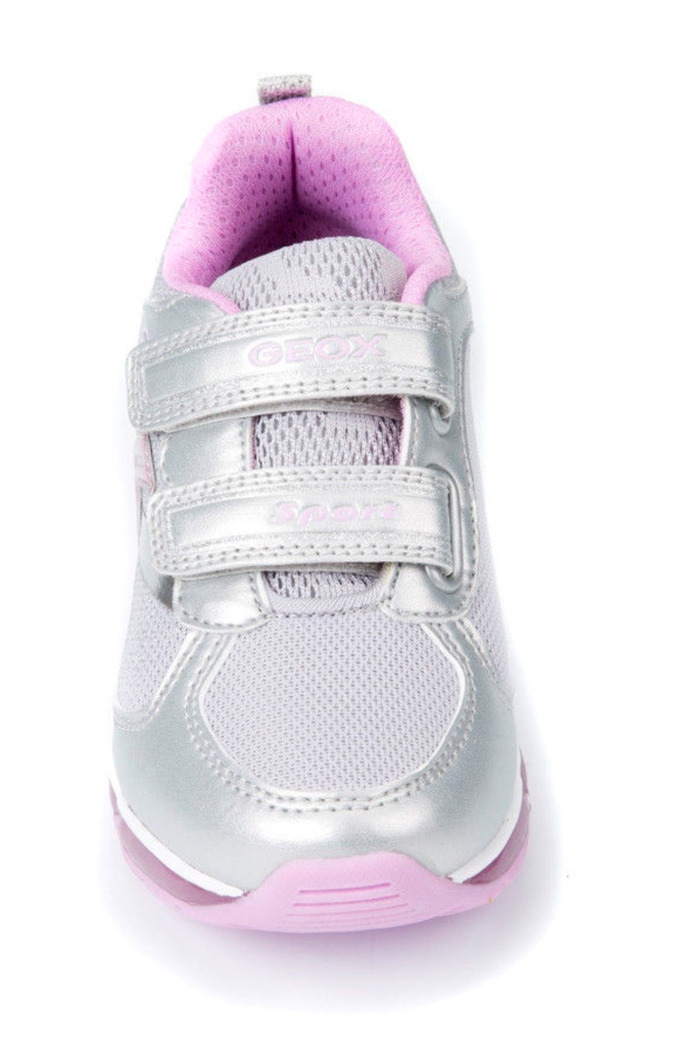 Android Light-Up Sneaker,                             Alternate thumbnail 4, color,                             SILVER/ PINK