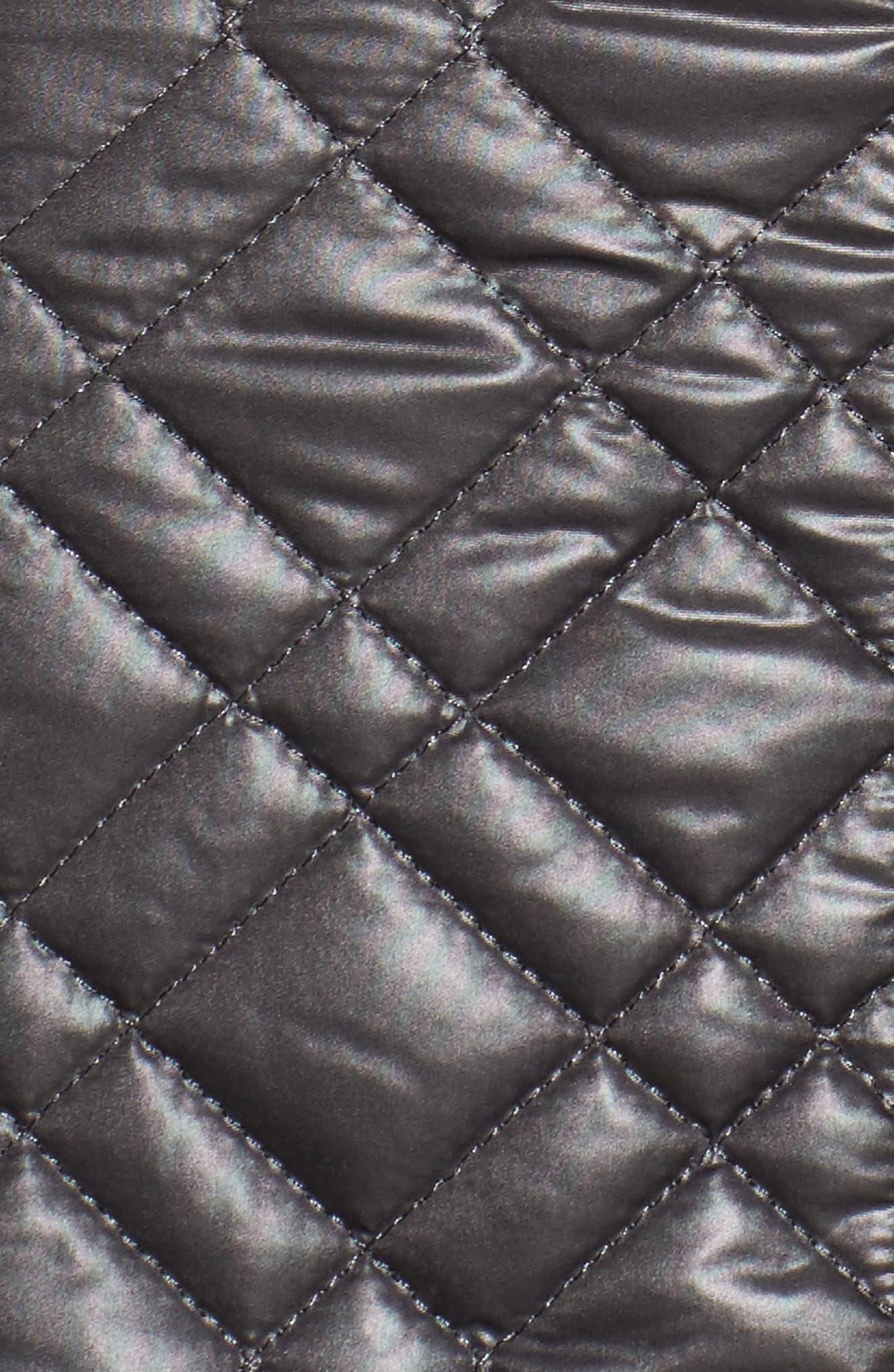 Tassel Detail Hooded Mix Quilt Coat,                             Alternate thumbnail 4, color,                             031