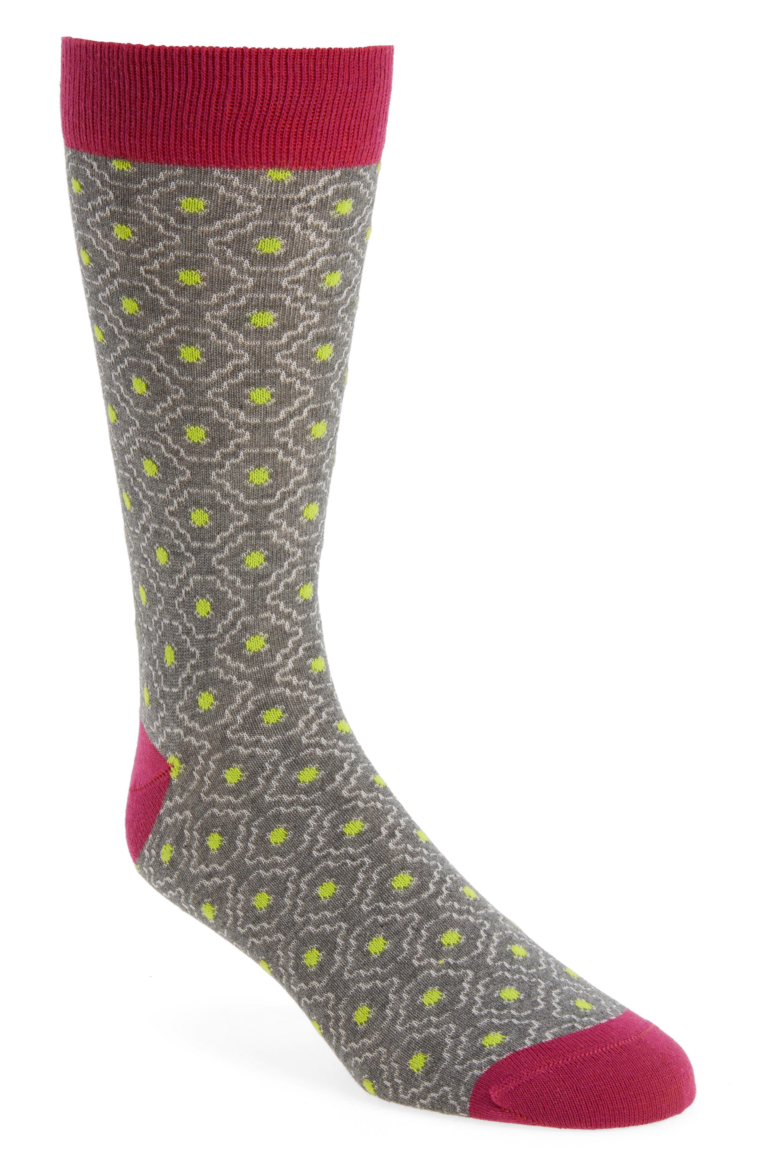 Norzec Geometric Sock,                             Main thumbnail 3, color,