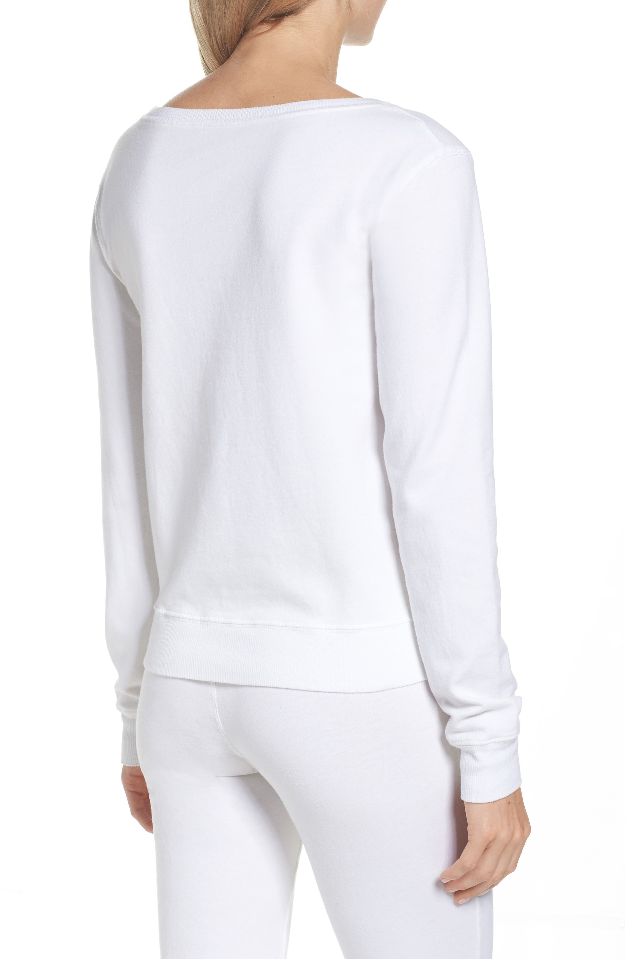 Lordes Fuzzy Fleece Sweatshirt,                             Alternate thumbnail 2, color,                             100