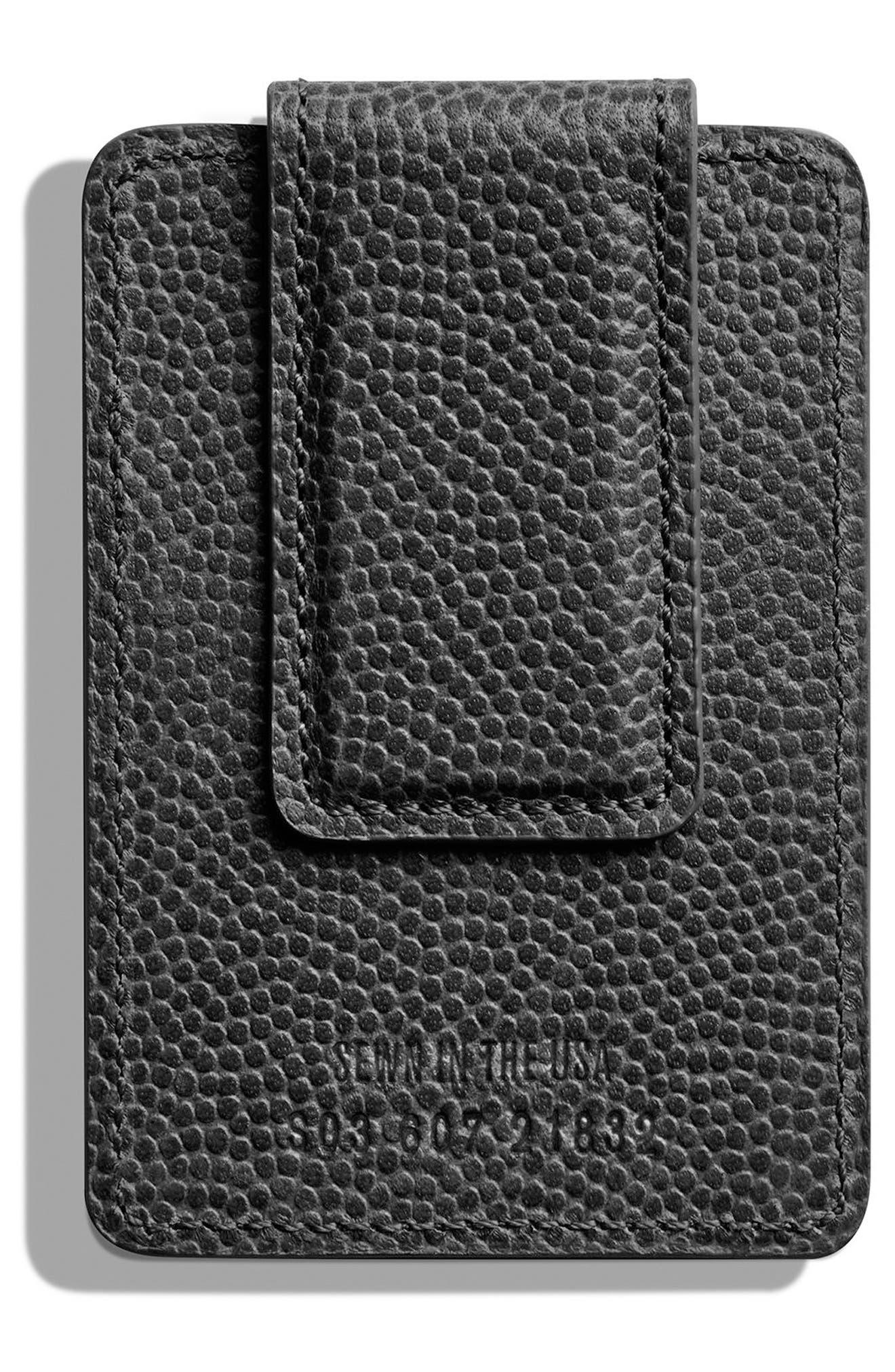 Latigo Magnetic Money Clip Card Case,                             Alternate thumbnail 2, color,                             BLACK