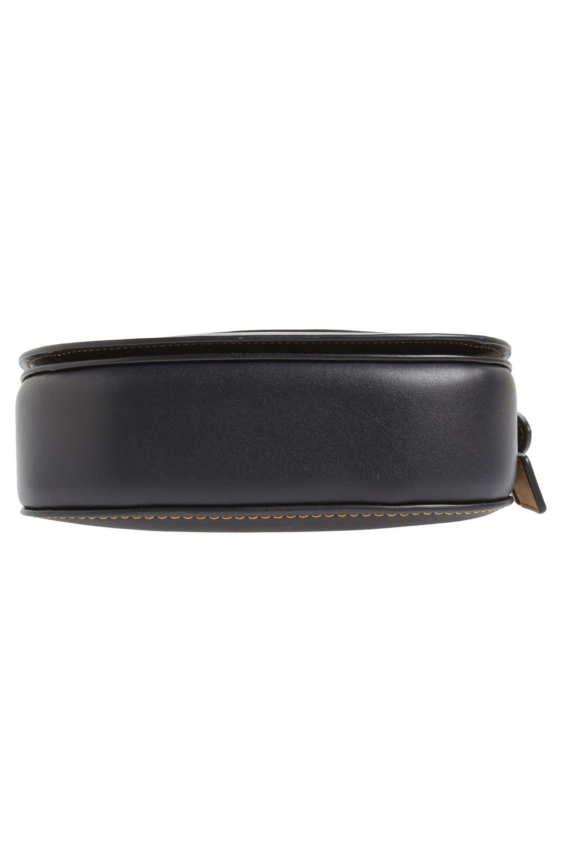 '23' Leather Saddle Bag,                             Alternate thumbnail 6, color,                             001