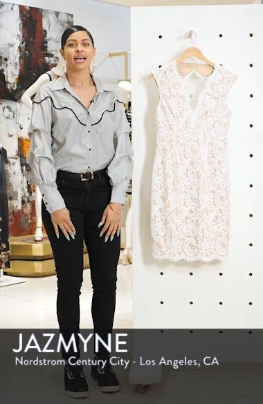 Illusion Lace Sheath Dress, sales video thumbnail