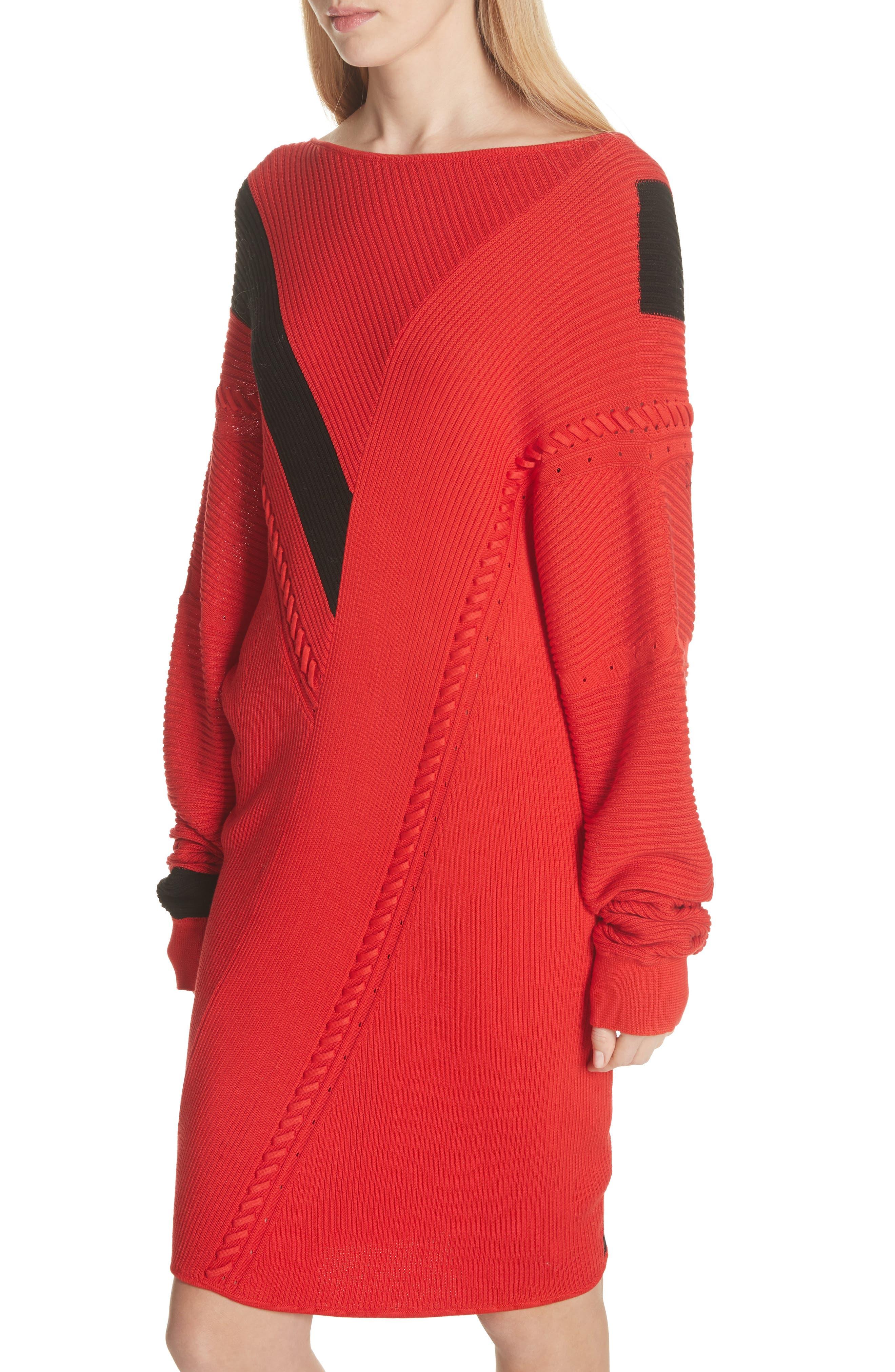 Cricket Reversible Sweater Dress,                             Alternate thumbnail 4, color,                             600