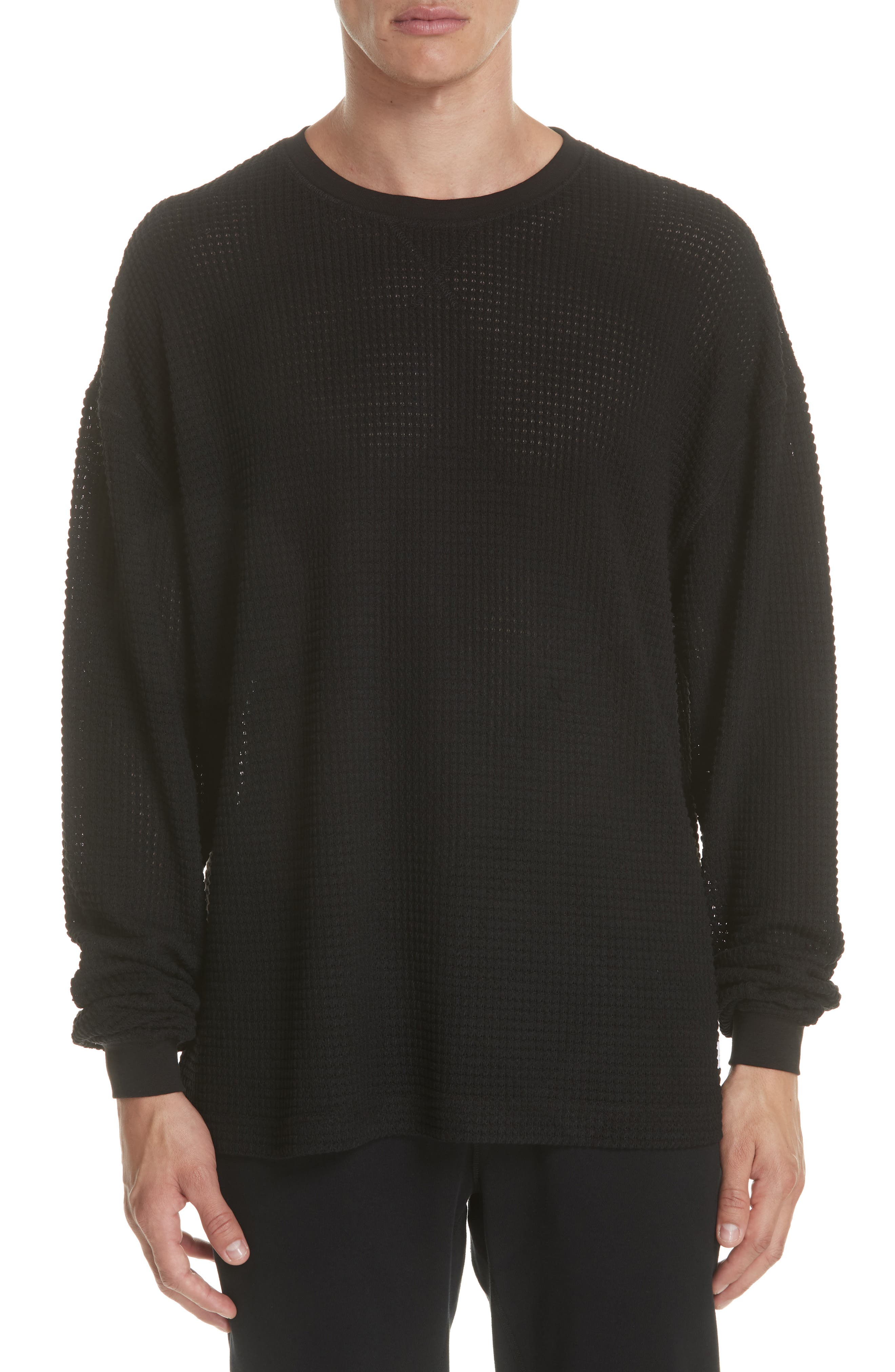 Antora Long Sleeve Thermal T-Shirt,                         Main,                         color, BLACK