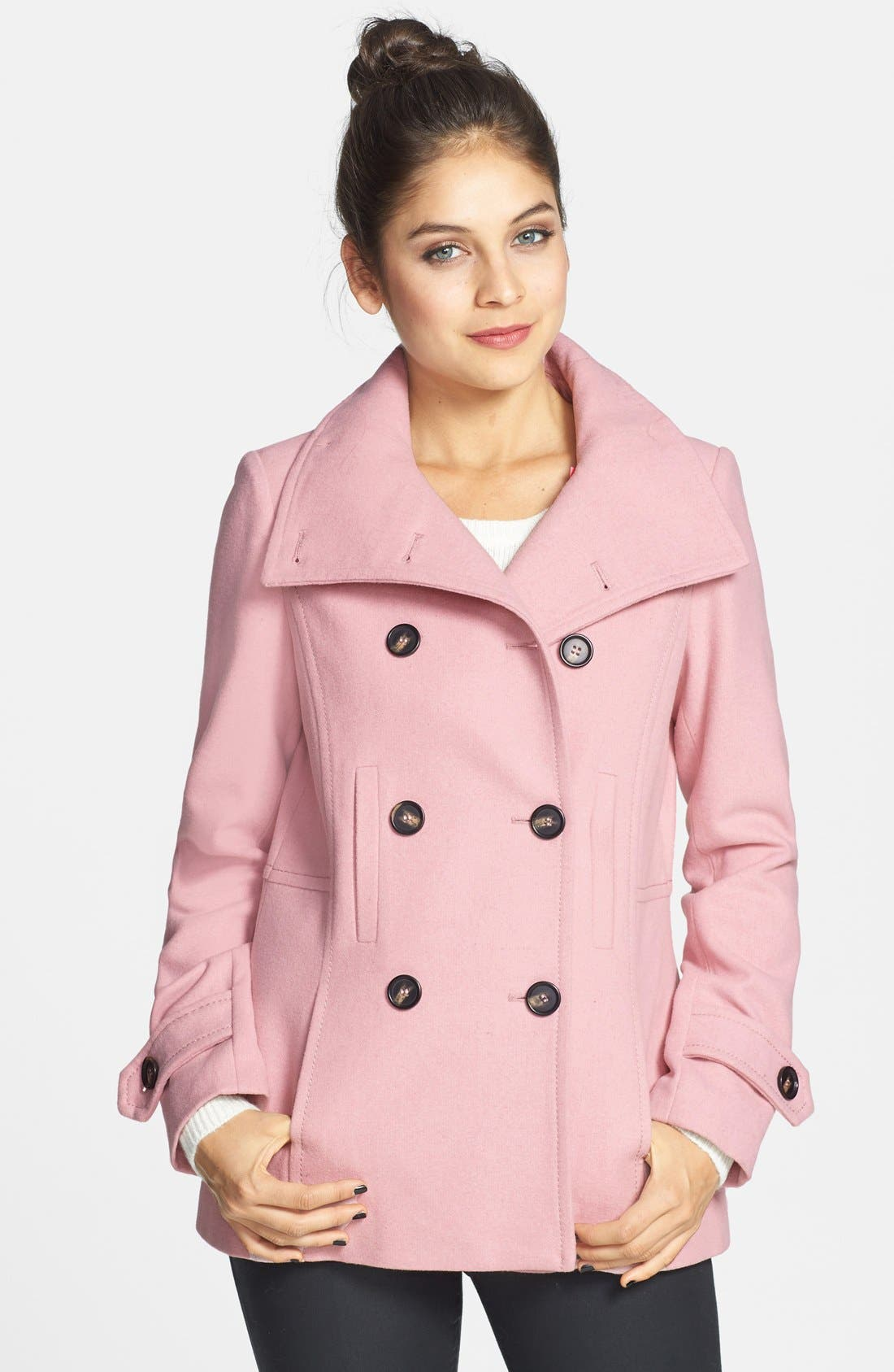 Double Breasted Peacoat,                             Main thumbnail 8, color,