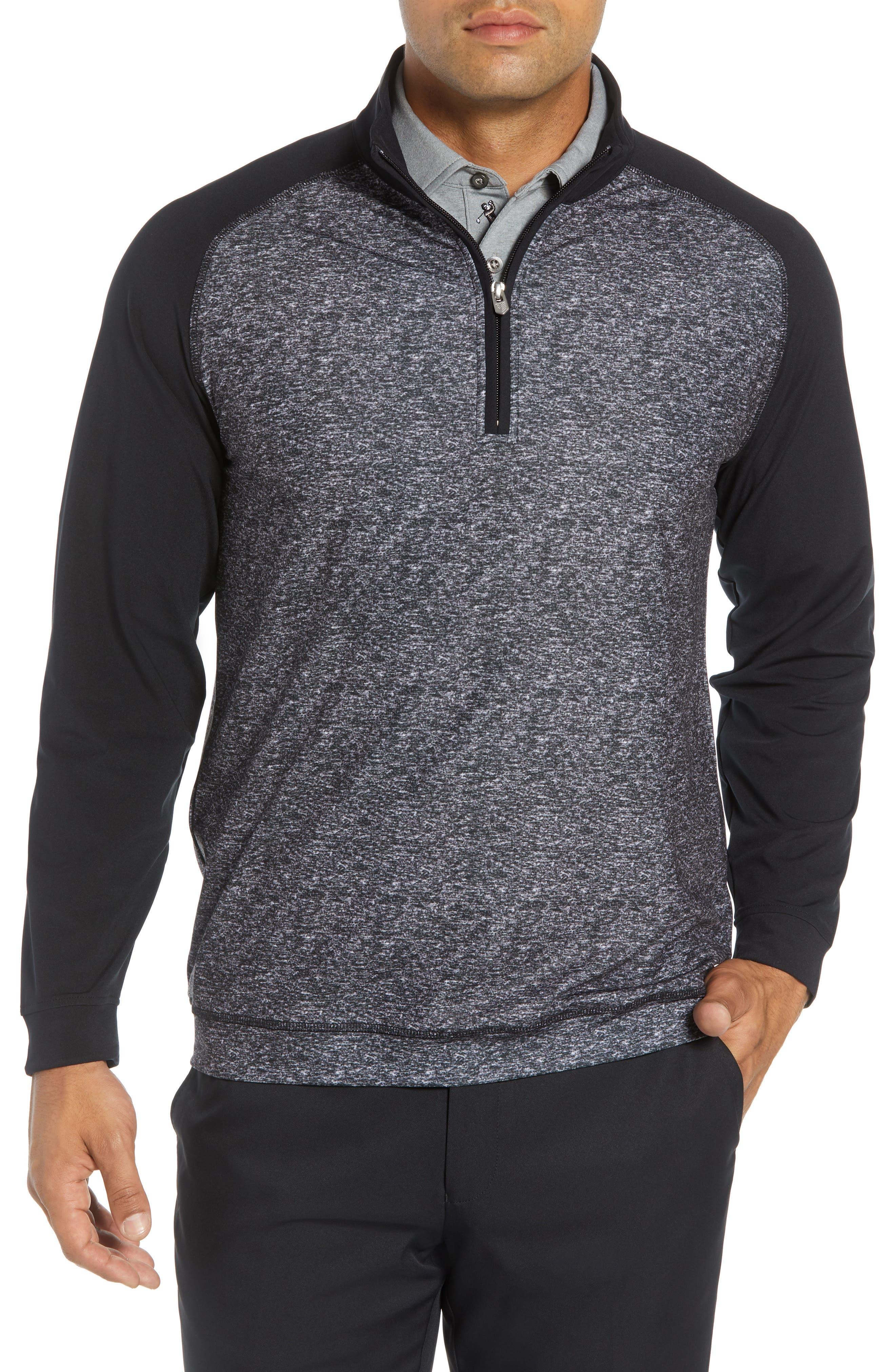Rule 18 Tech Raglan Pullover,                         Main,                         color, BLACK