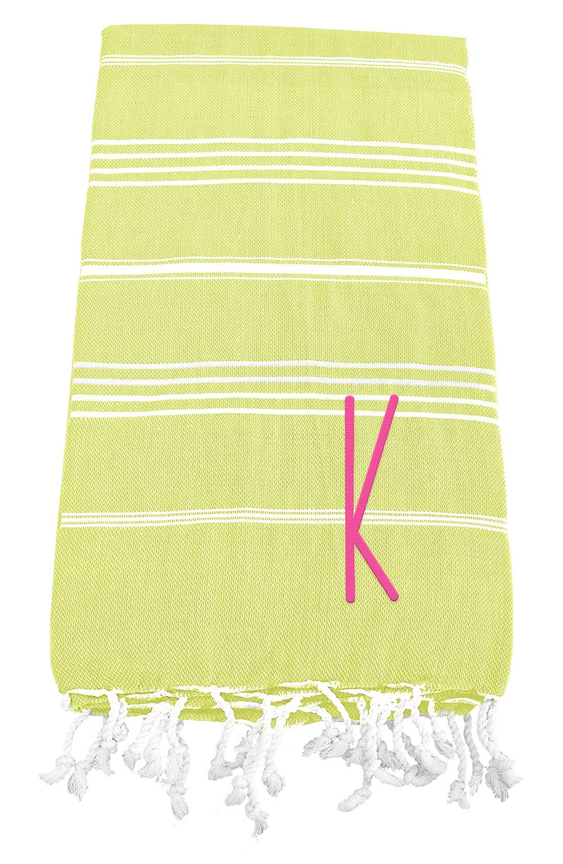 Monogram Turkish Cotton Towel,                             Main thumbnail 40, color,
