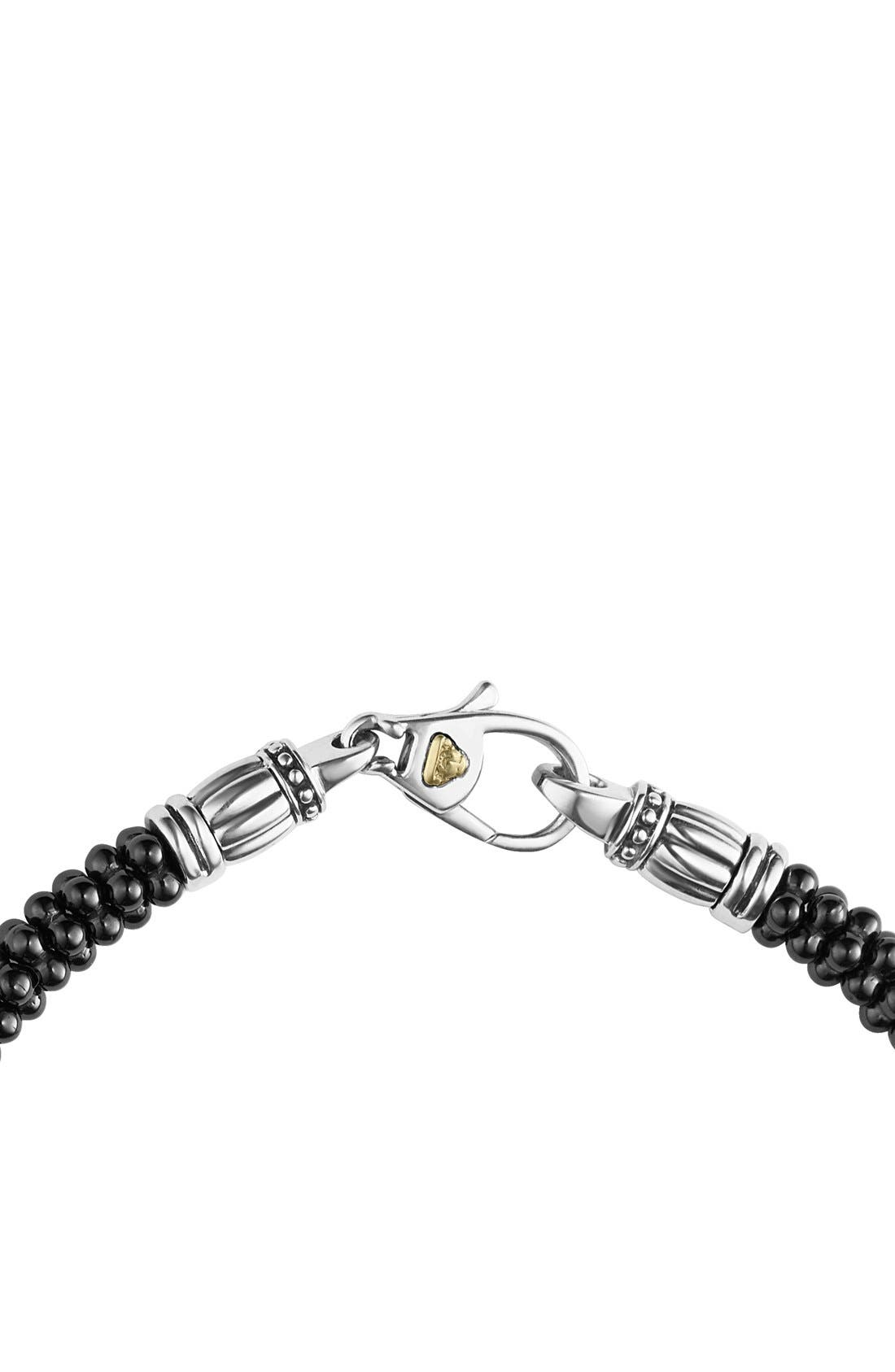 LAGOS,                             'Black & White Caviar' Bracelet,                             Alternate thumbnail 4, color,                             BLACK/ GOLD